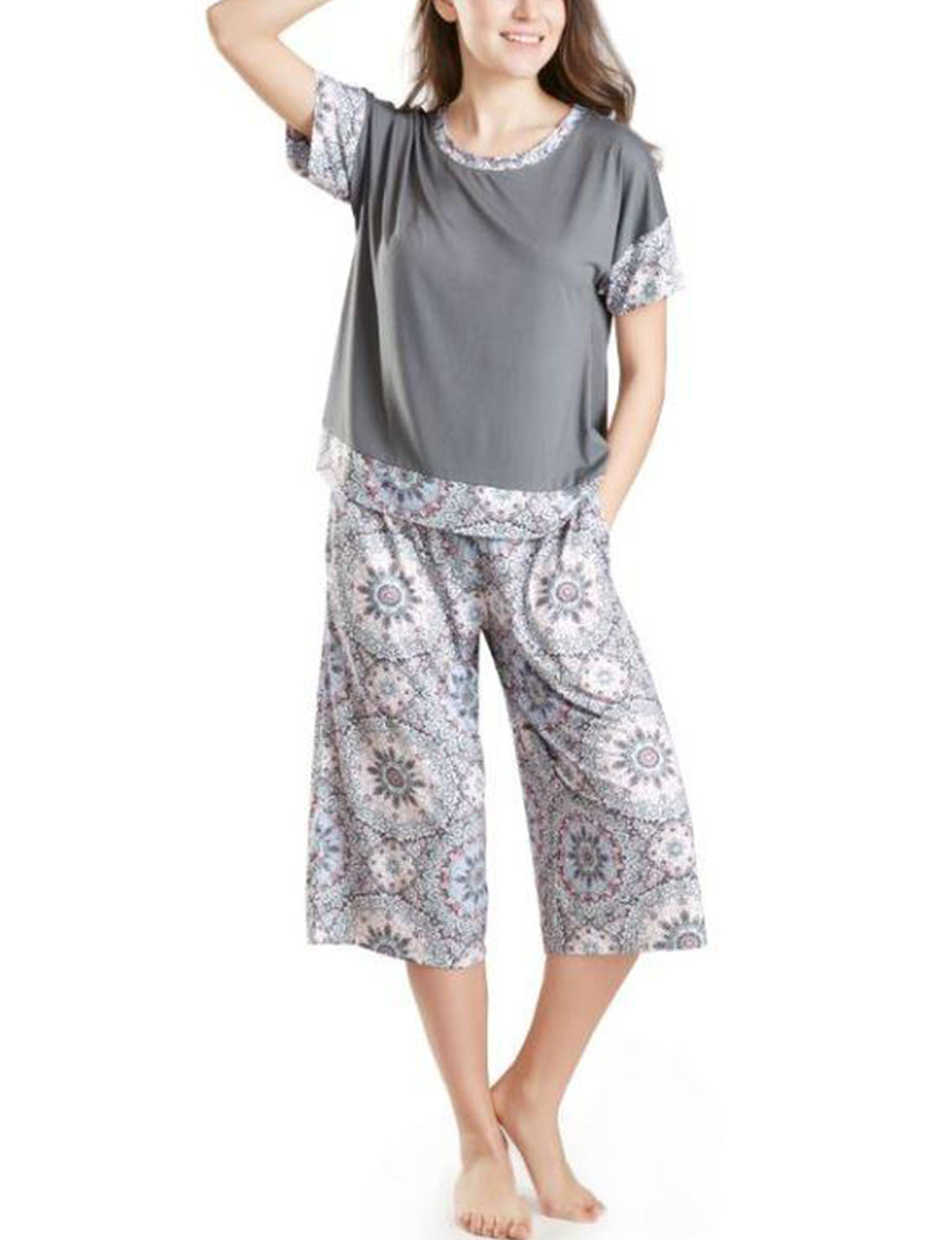 Ink + Ivy Grey Pajama Sets