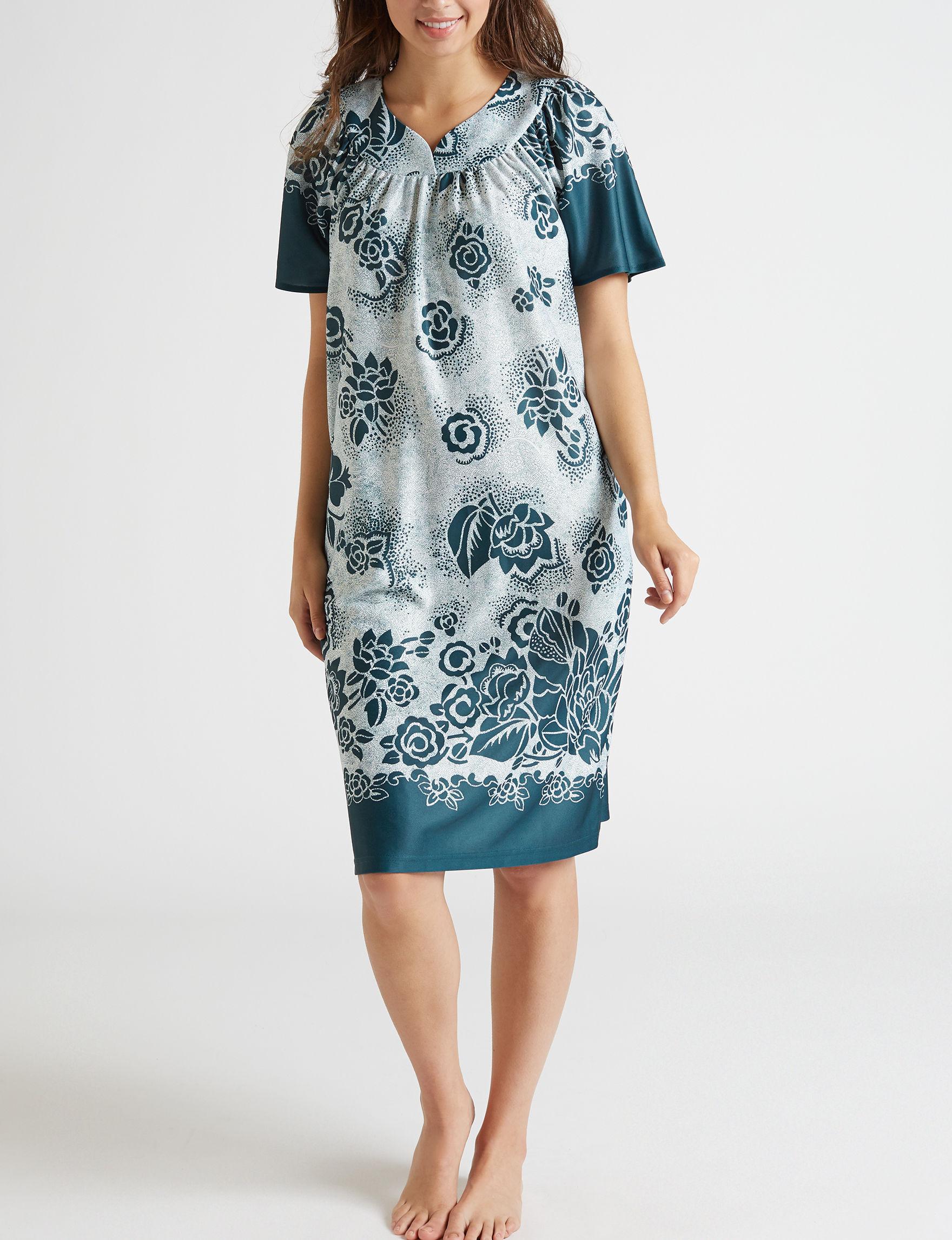 Lissome Teal / White House Dresses