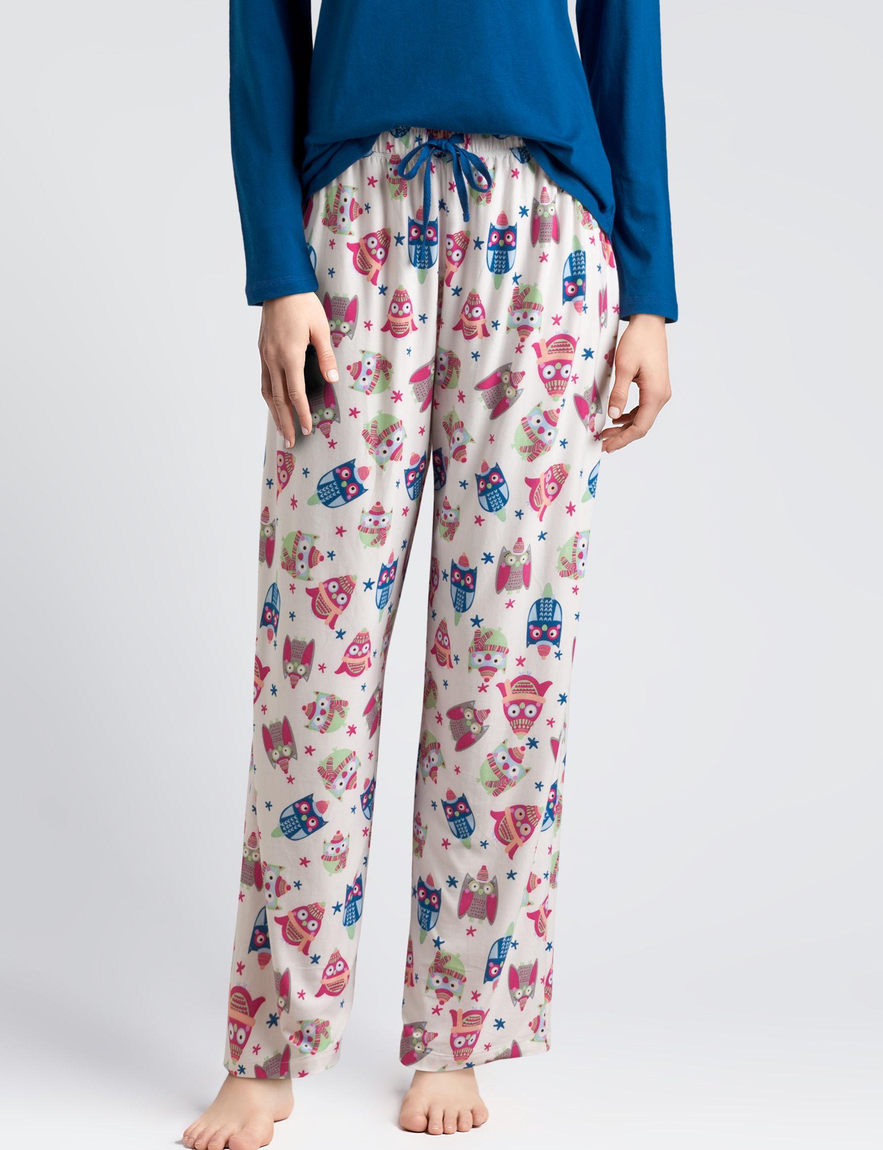 Goodnight Kiss White / Blue Pajama Bottoms