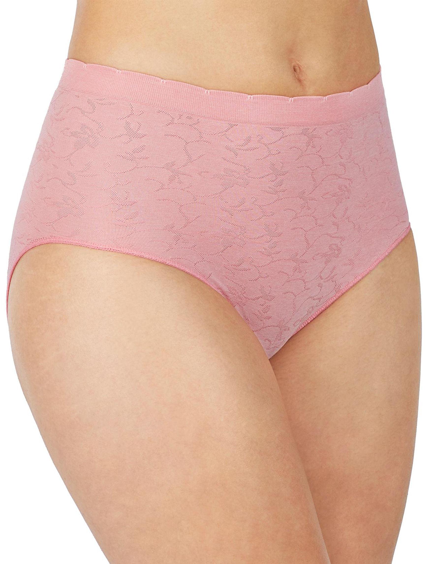 Ellen Tracy Pink Panties Briefs Seamless