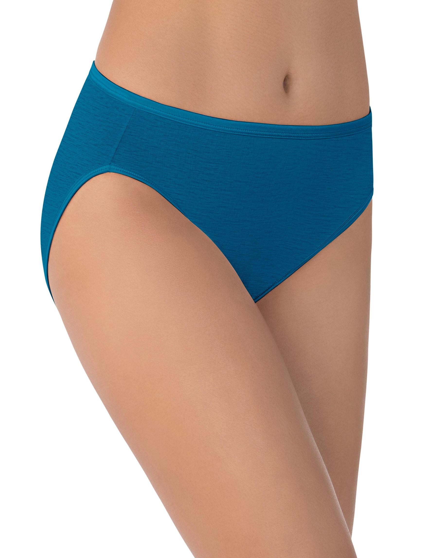 Vanity Fair Blue Panties Briefs High Cut