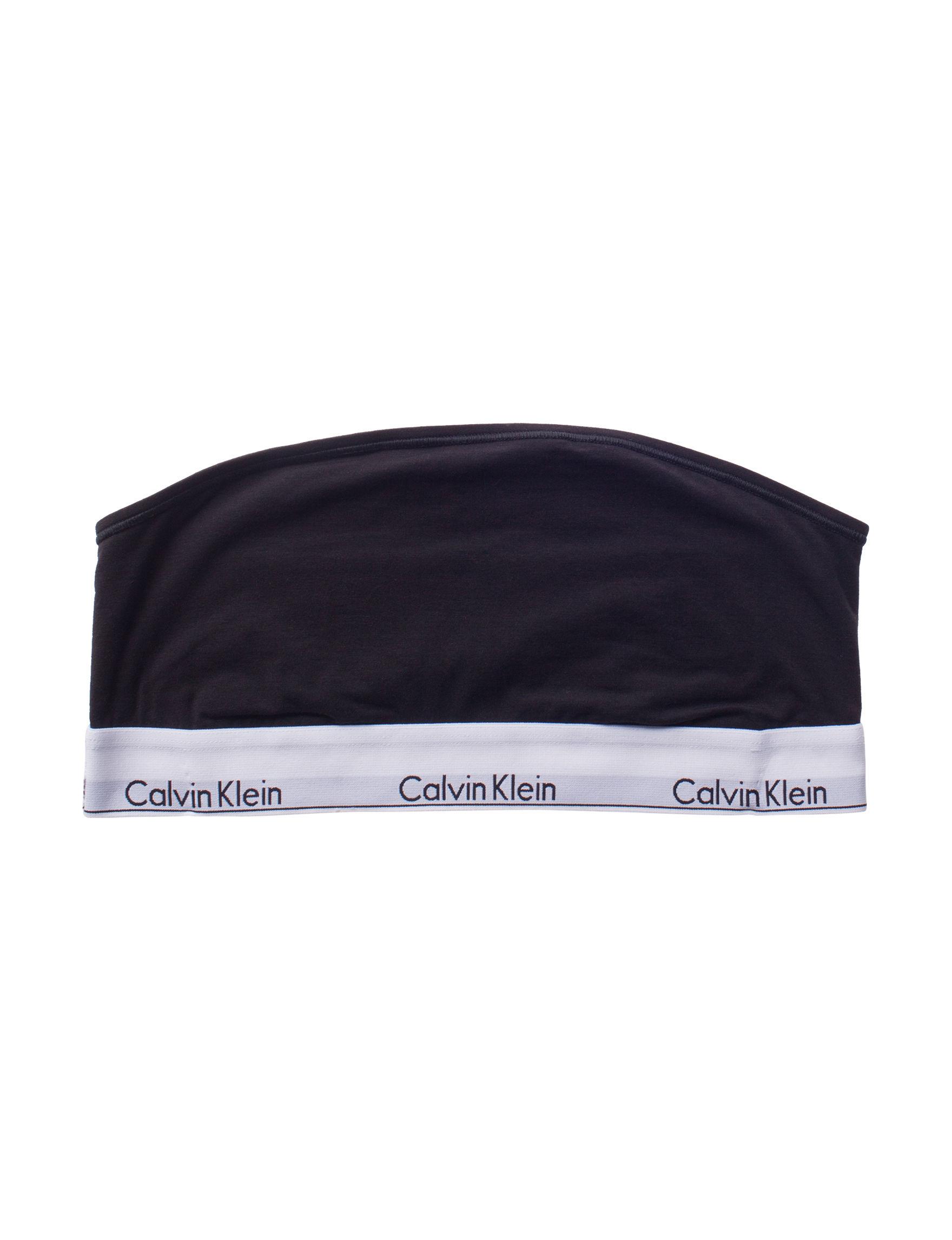 Calvin Klein Black Bras Bandeau Unlined
