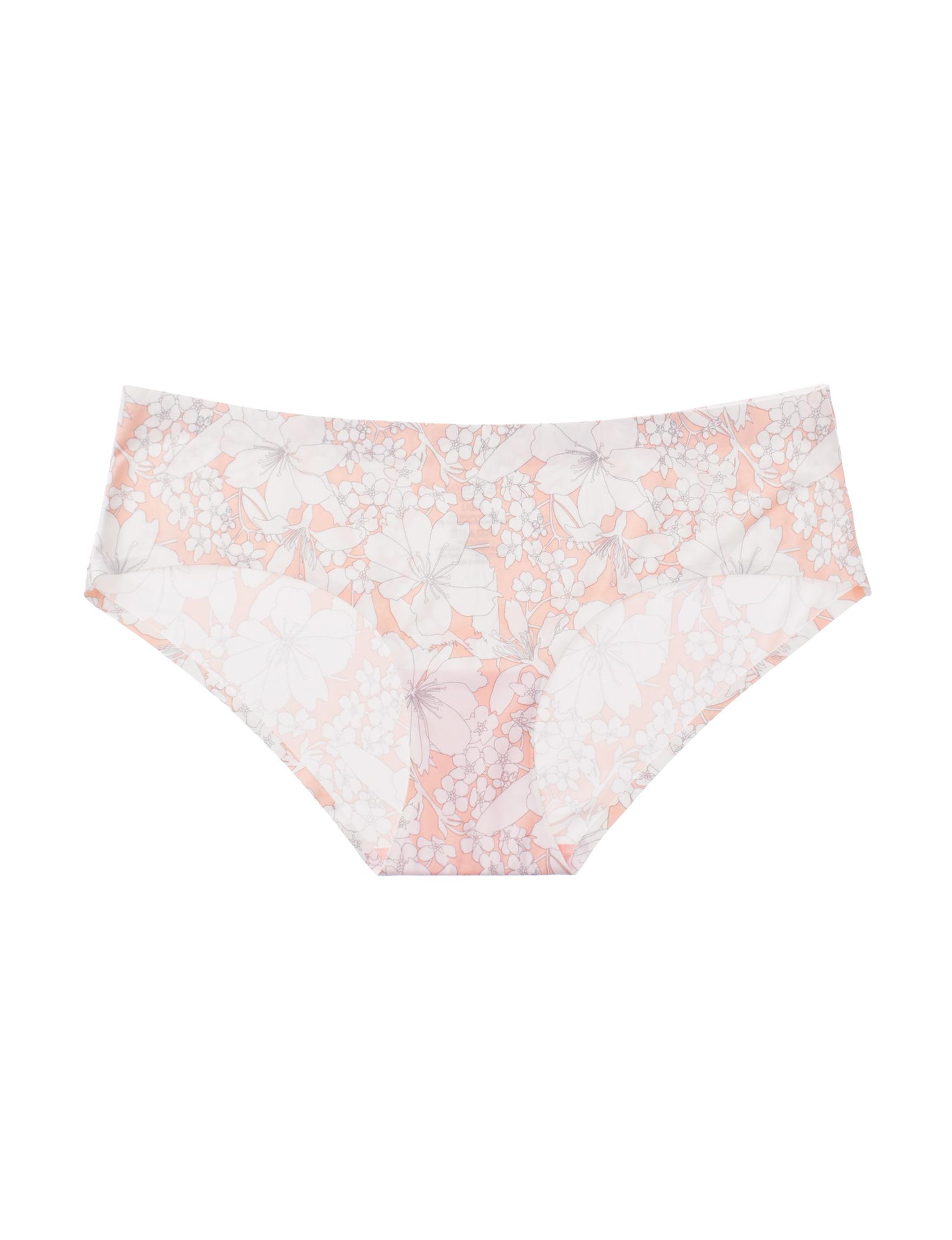 Sophie B Peach Floral Panties Hipster