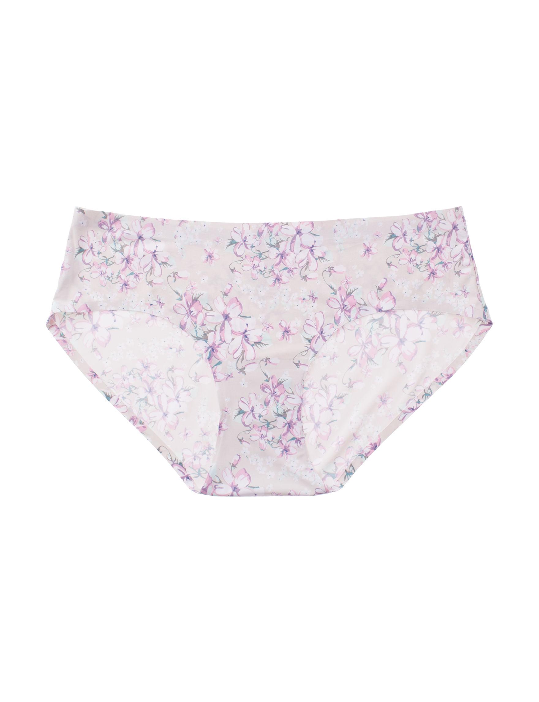 Sophie B Beige Floral Panties Hipster