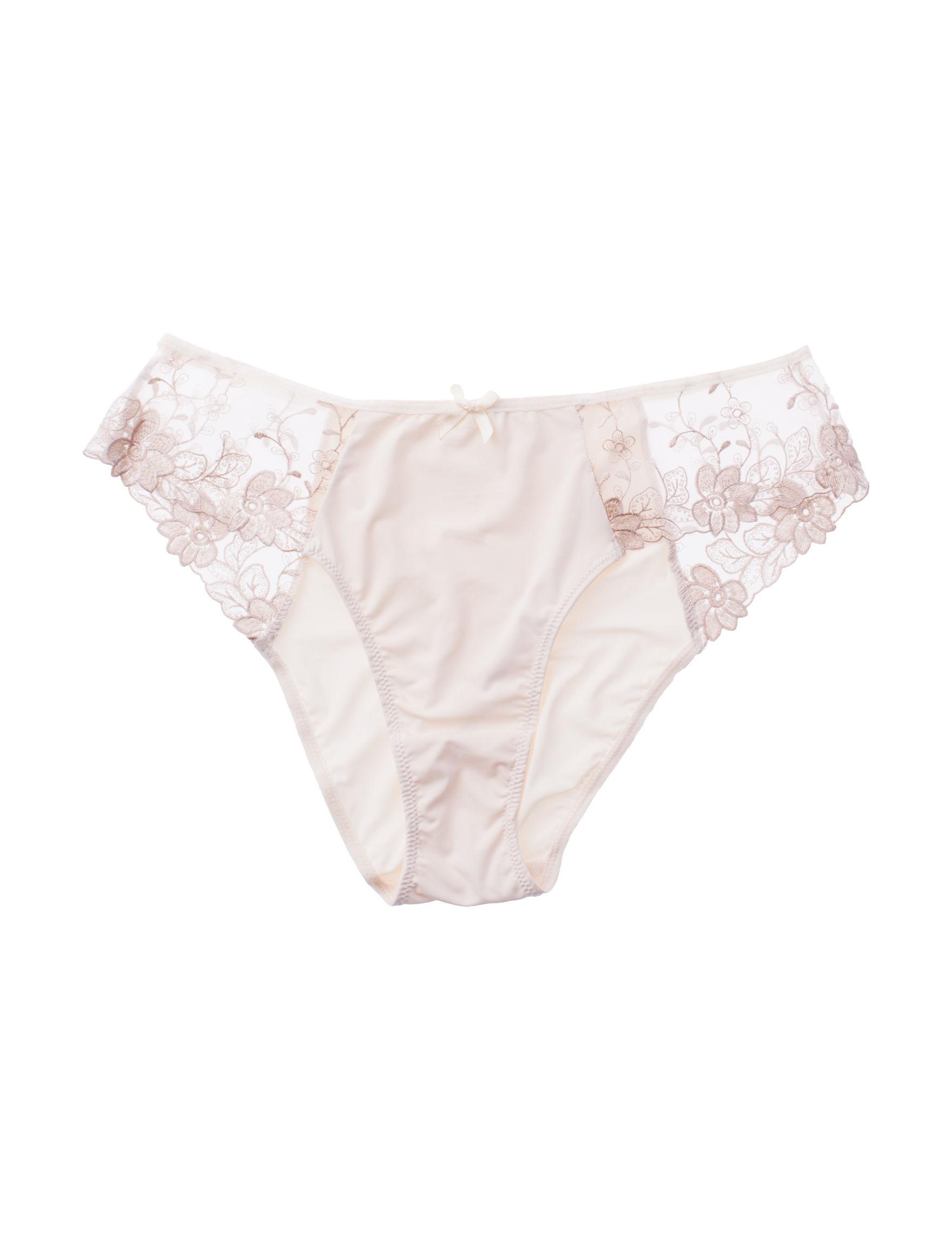 Rene Rofe Cream Panties High Cut