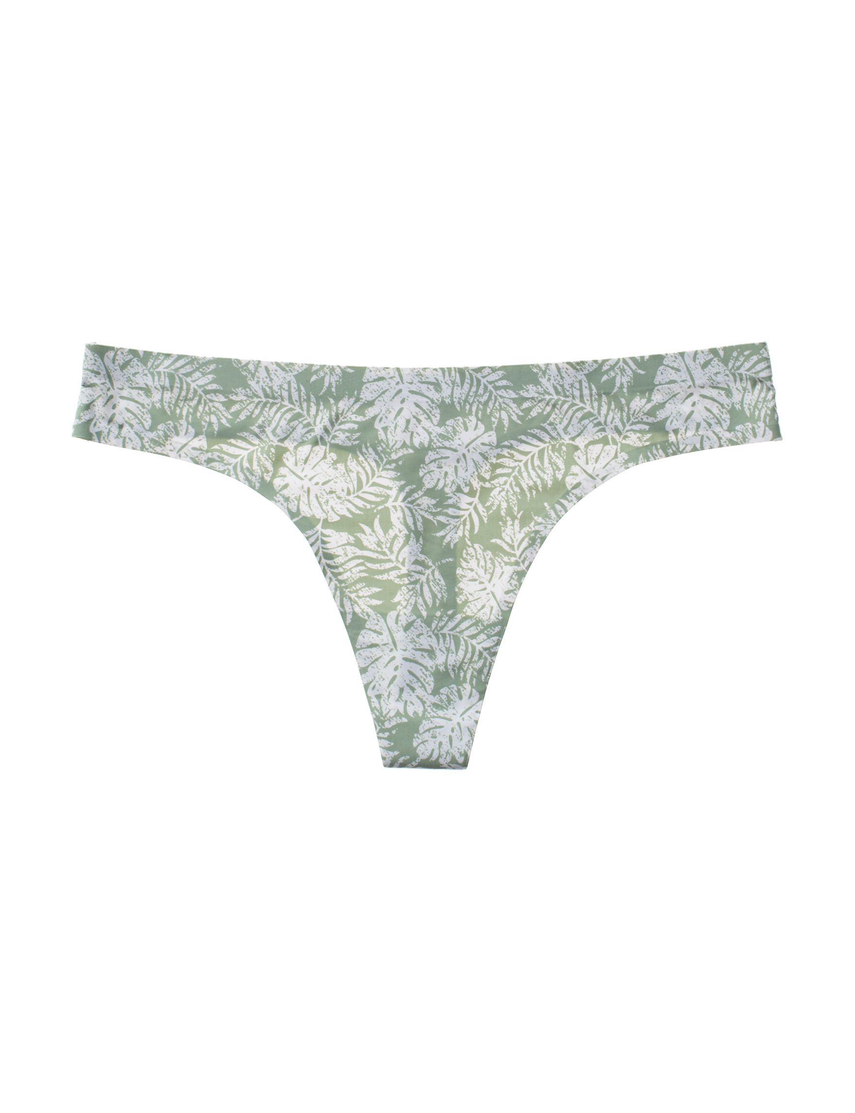 Sophie B Green Floral Panties Thong
