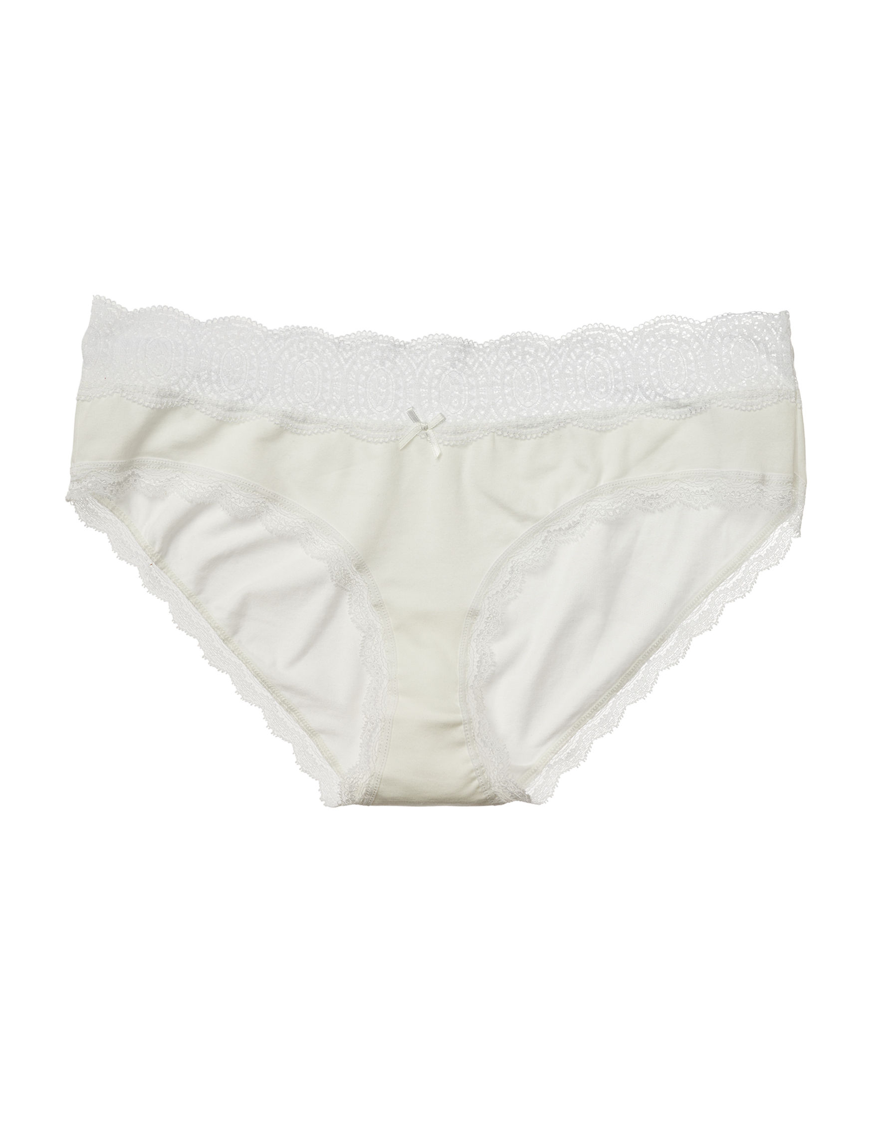 International Intimates White Panties Hipster
