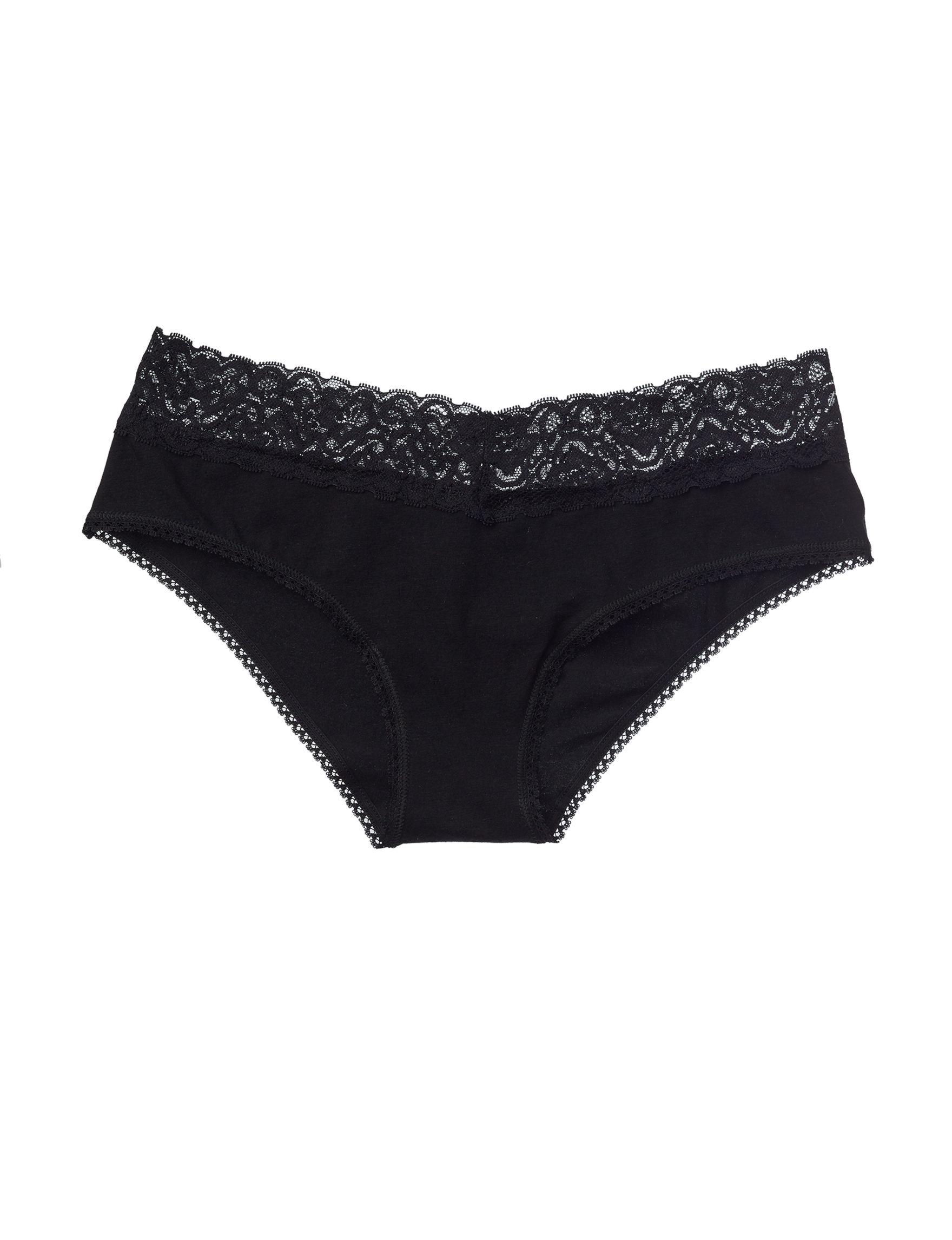 International Intimates Black Panties Hipster