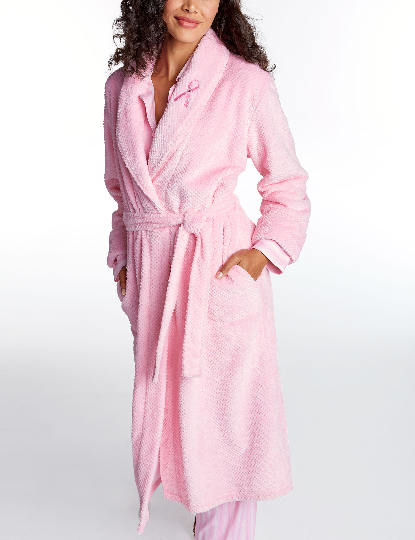 Hannah Pink Smoke Robes, Wraps & Dusters
