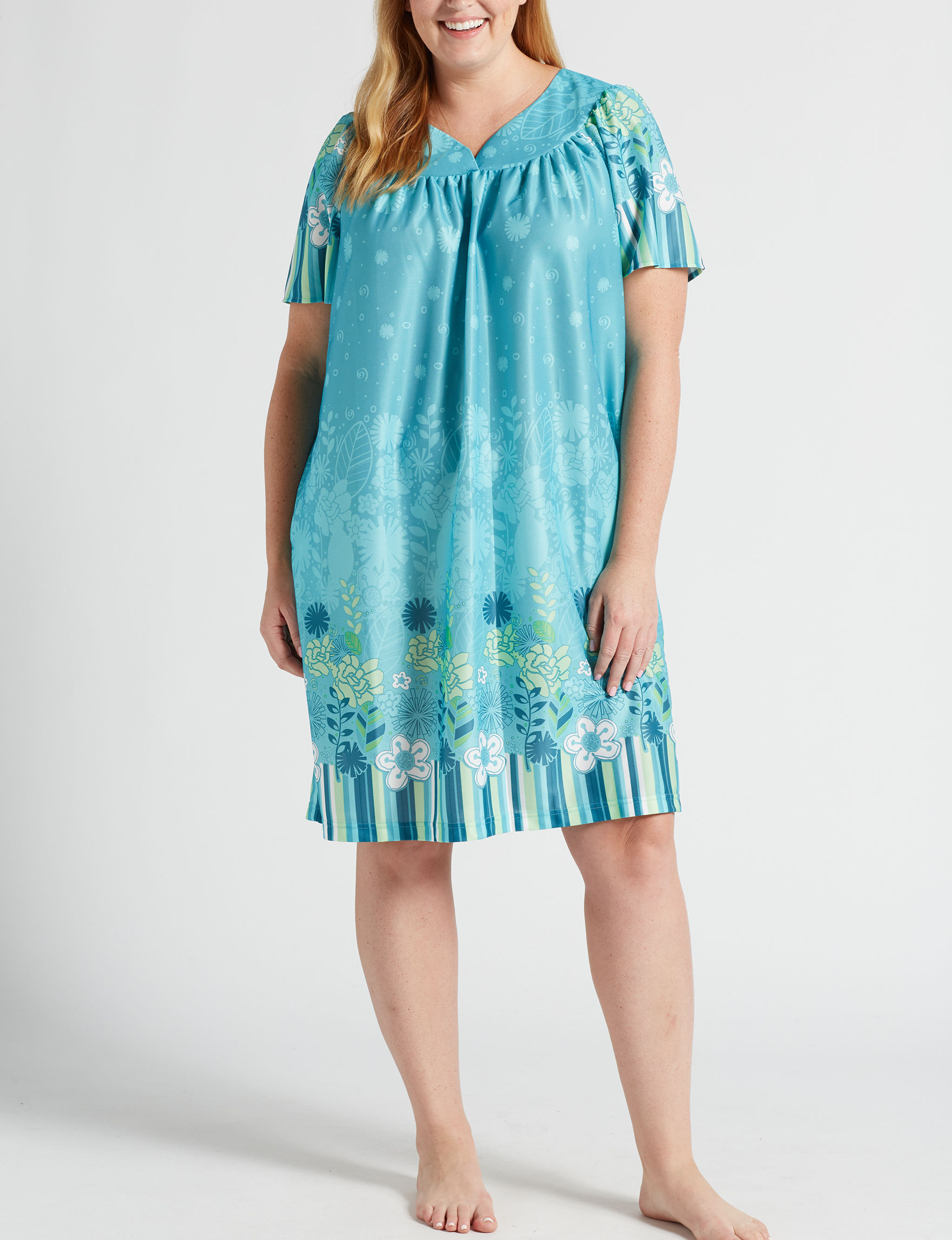 Lissome Aqua House Dresses