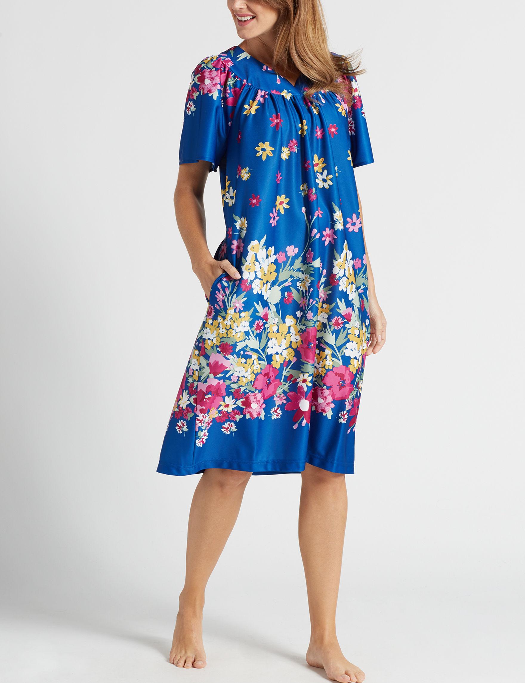 Lissome Royal Blue House Dresses