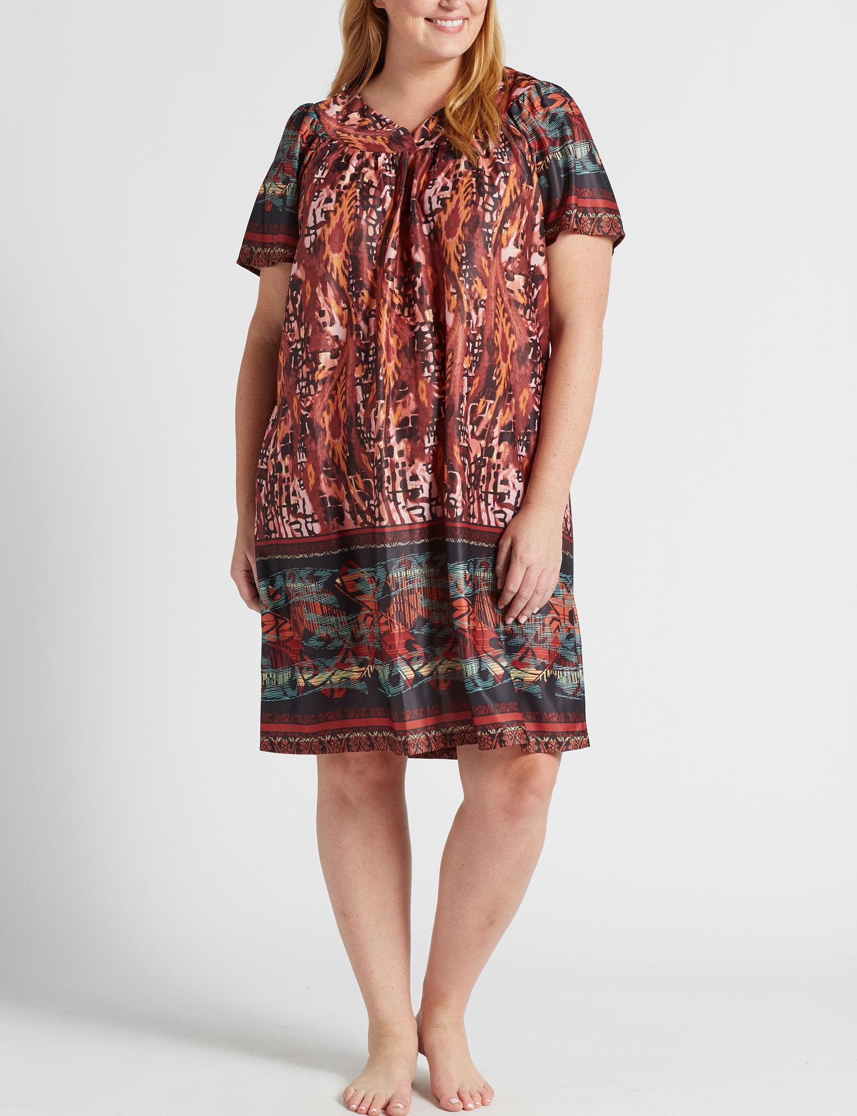 Lissome Aztec Print House Dresses