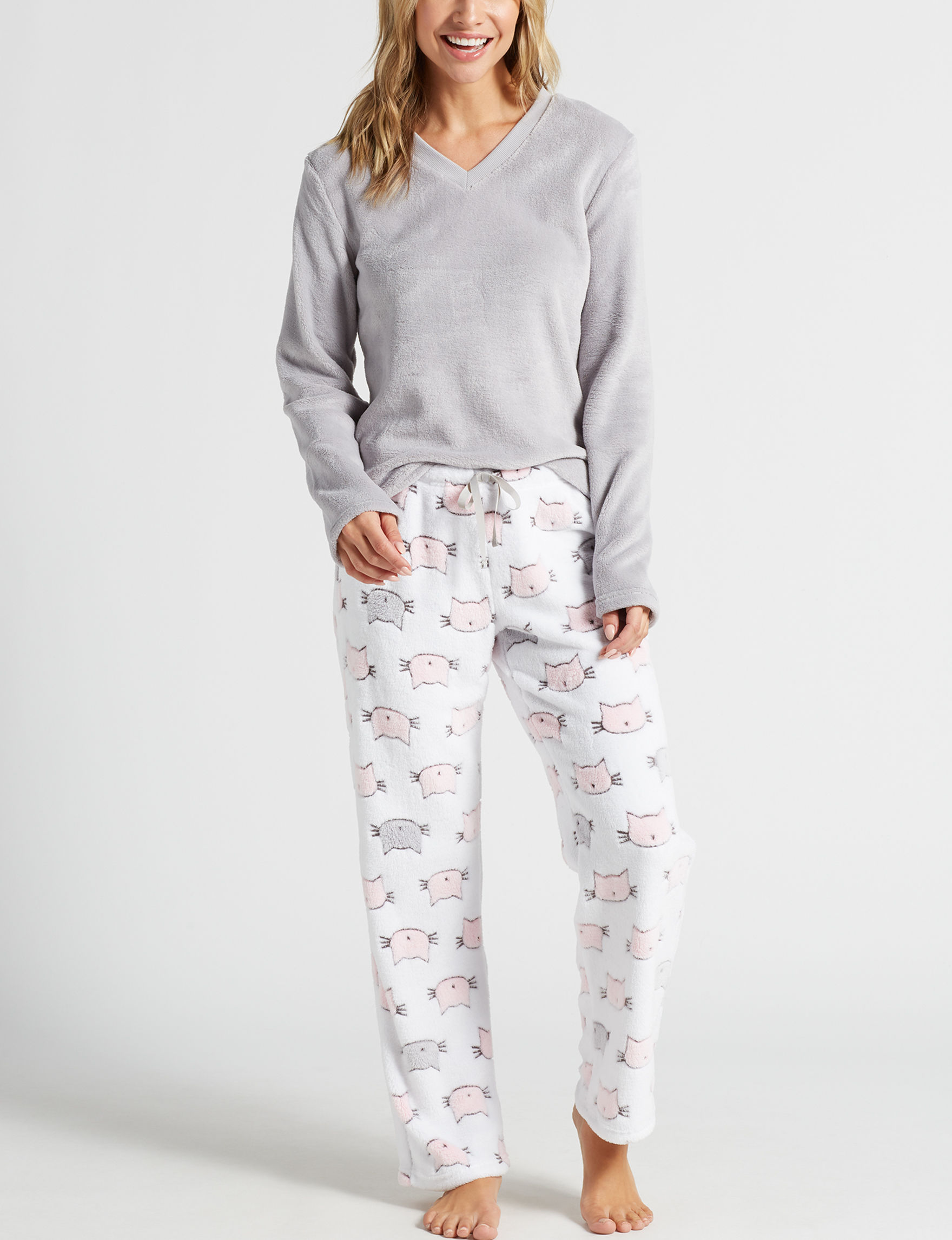 PJ Couture Grey Multi Pajama Sets