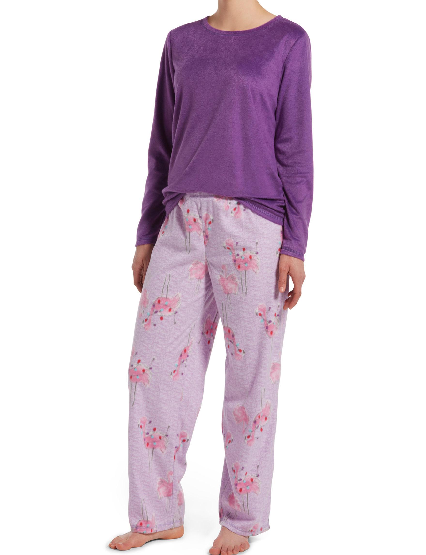 Hue Jewel Purple Pajama Sets
