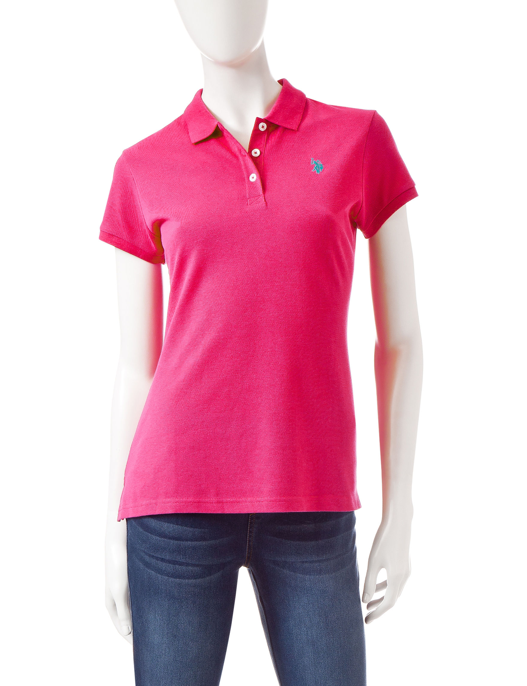 U.S. Polo Assn. Dark Pink Shirts & Blouses