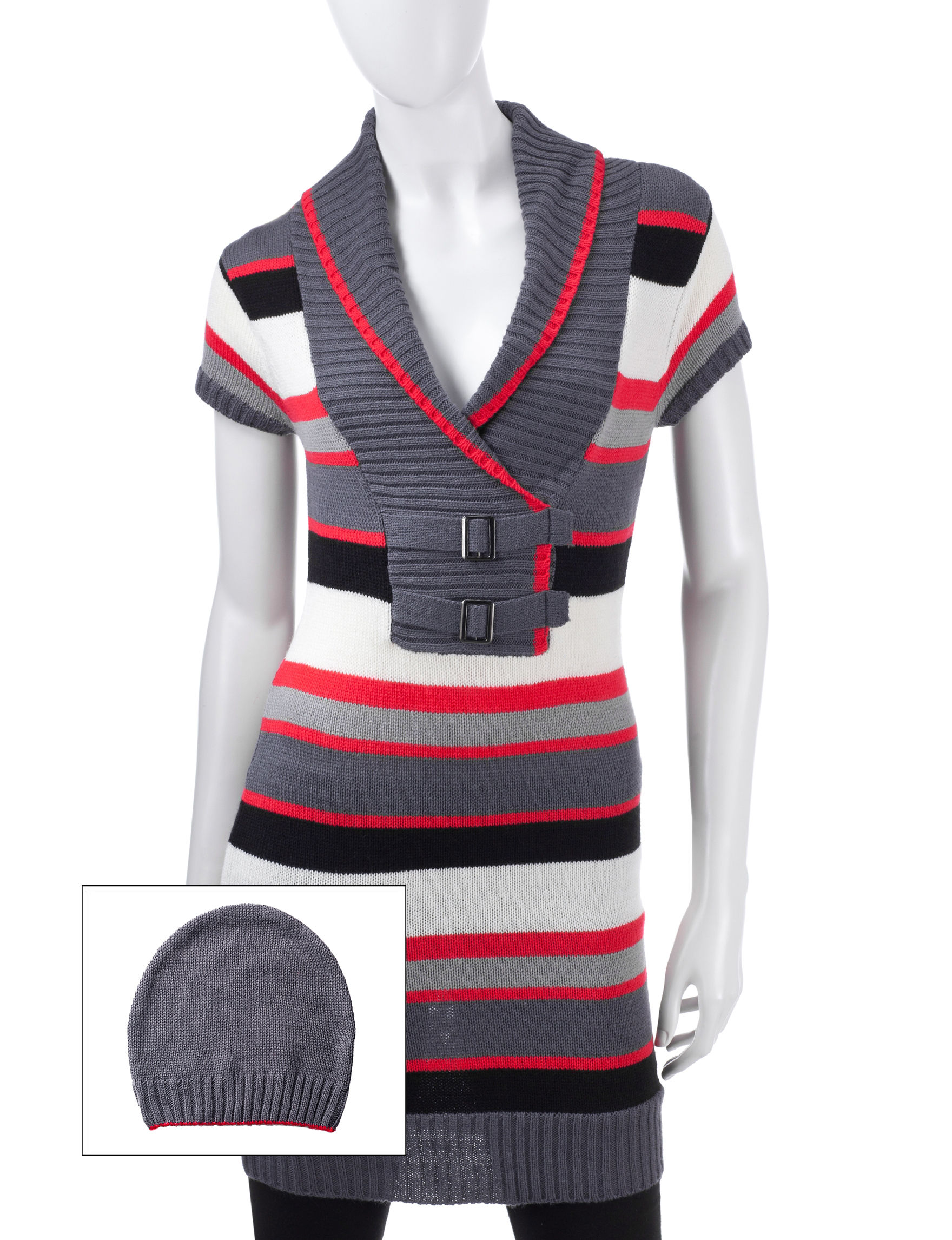 Made for Me to Look Amazing Red / Black Tunics