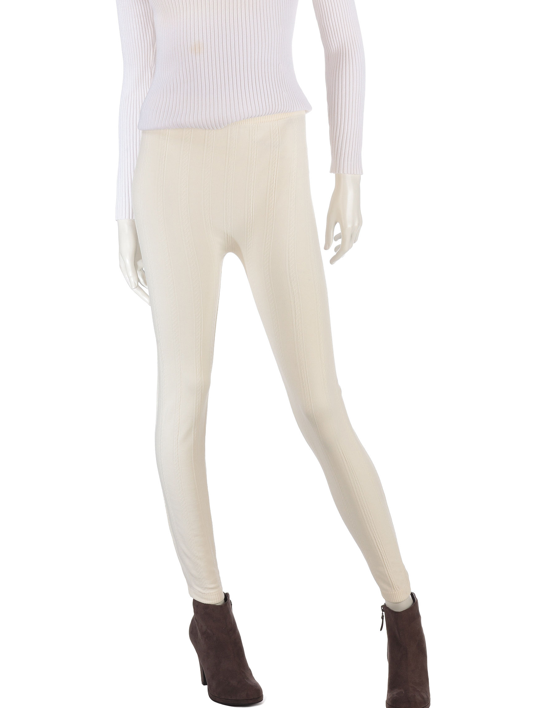Extra Touch Ivory Leggings
