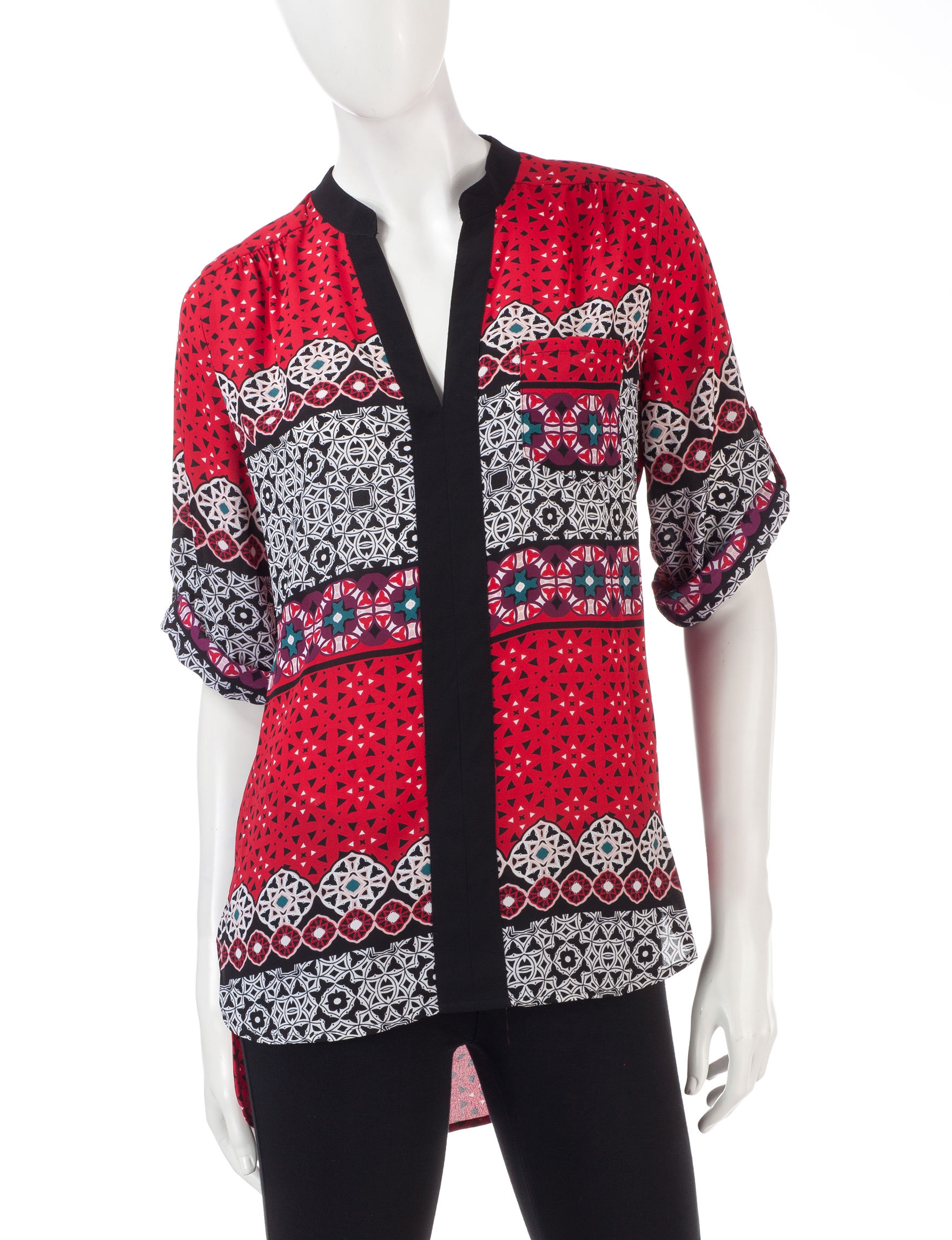My Michelle Red Multi Shirts & Blouses