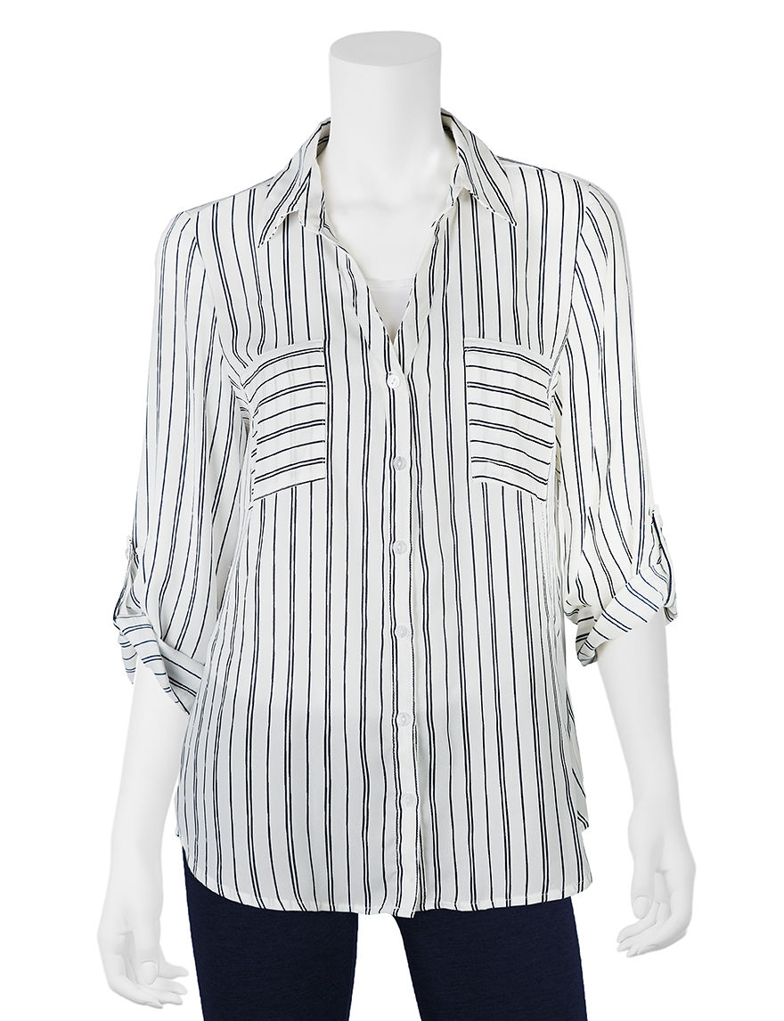 A. Byer Navy Shirts & Blouses