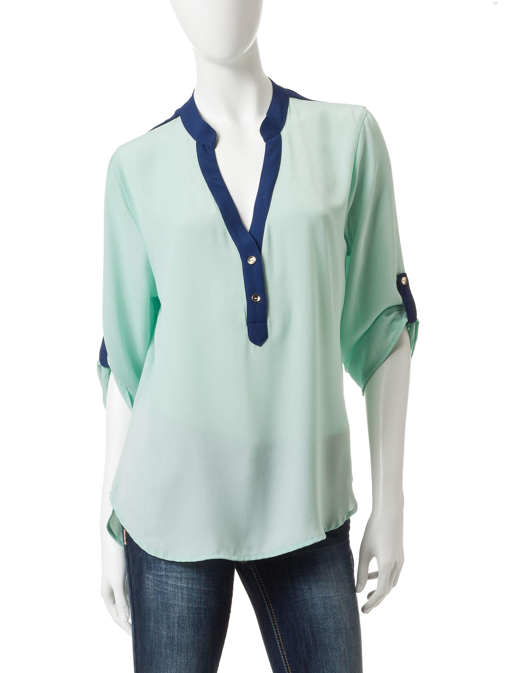 Wishful Park Navy / Multi Shirts & Blouses
