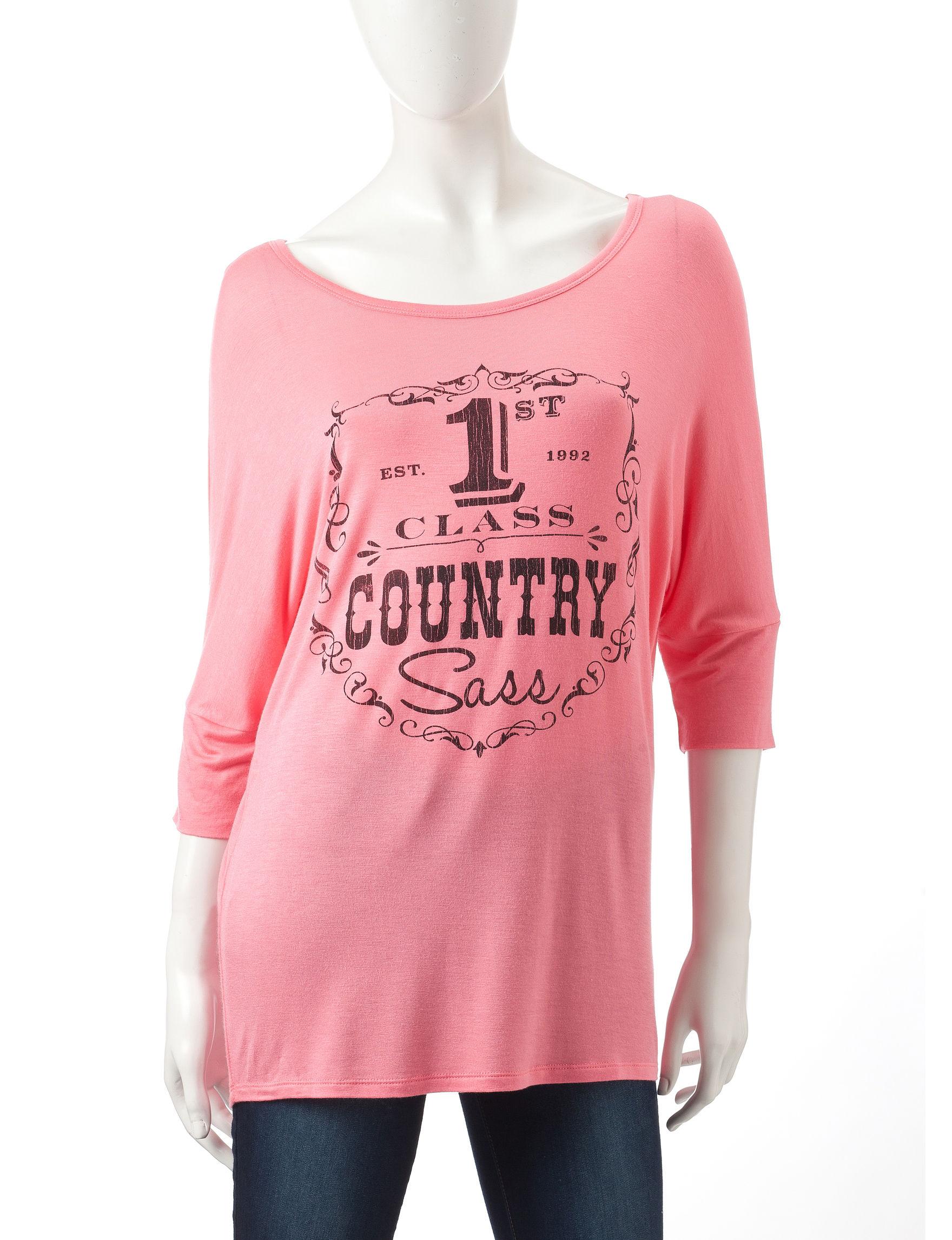 Sugar High Coral Shirts & Blouses