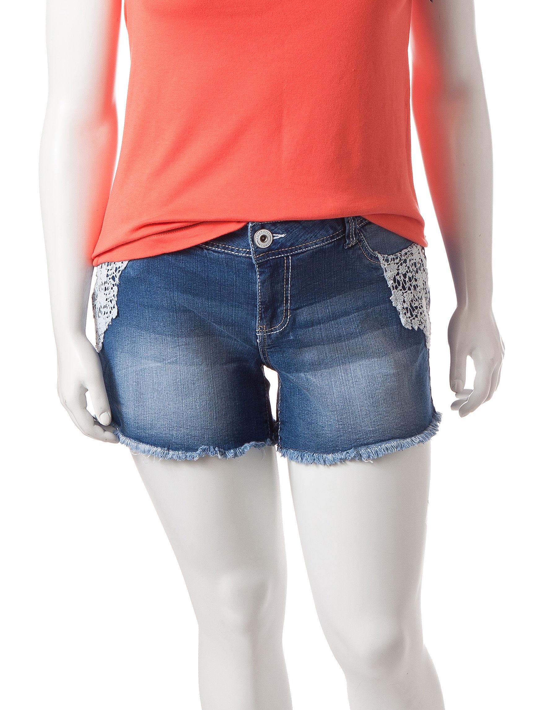Amethyst Dark Blue Denim Shorts