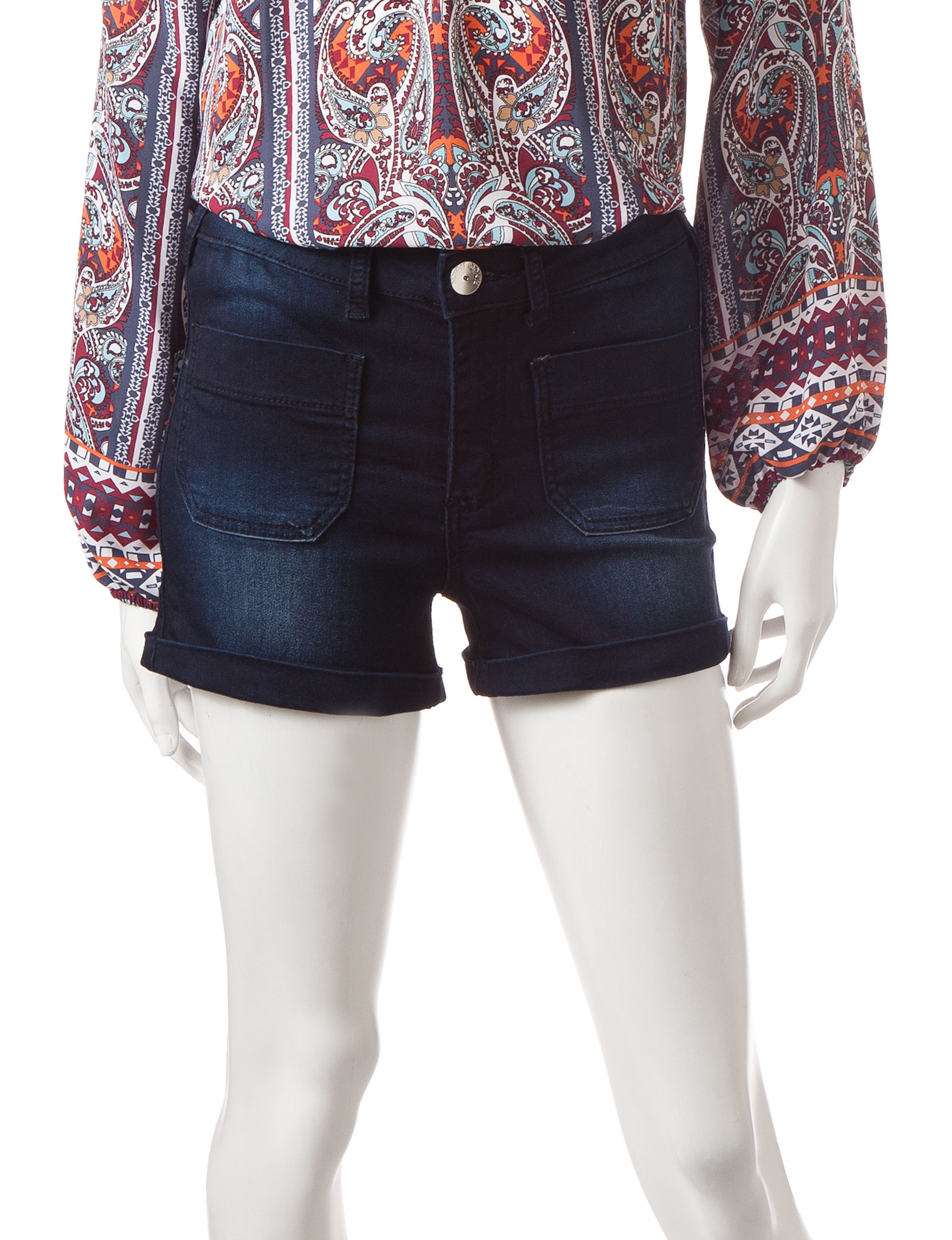 Almost Famous Dark Blue - Rinse Denim Shorts