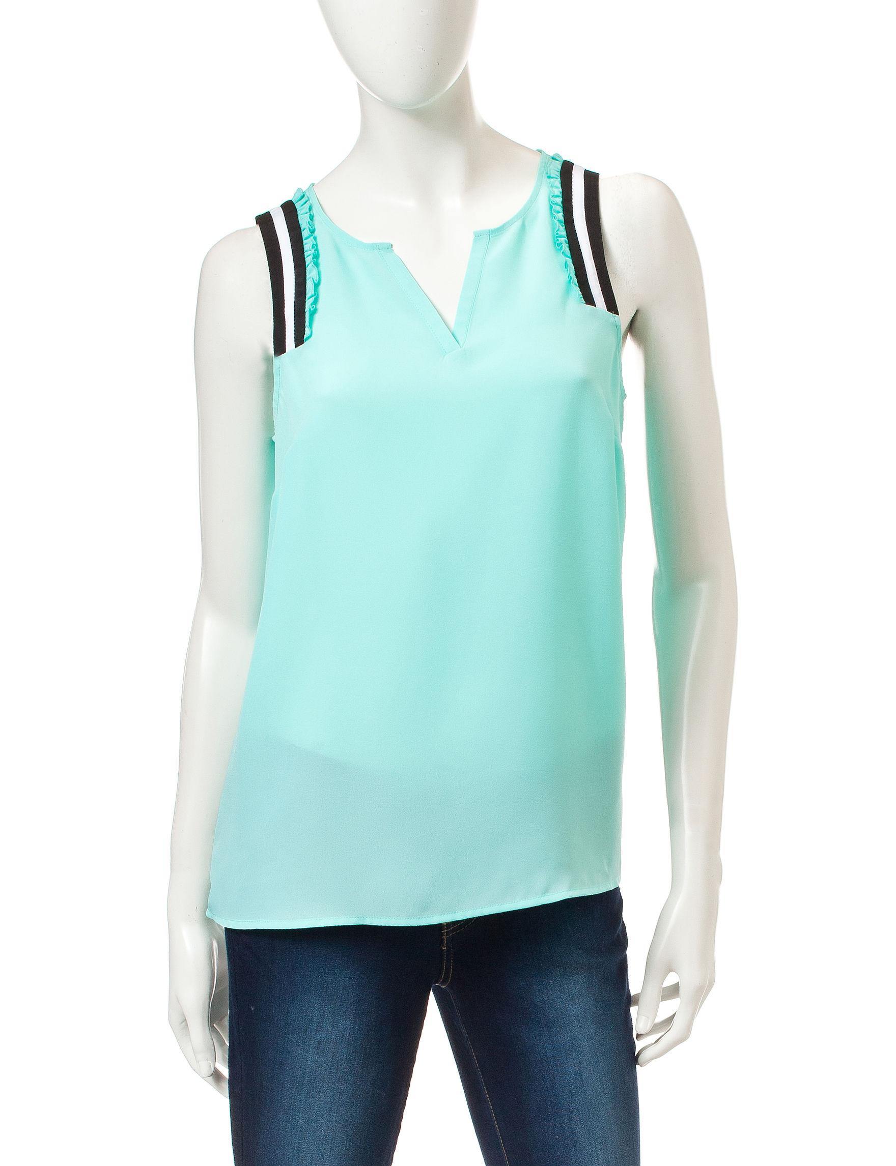 Kensie Blue / Green Shirts & Blouses