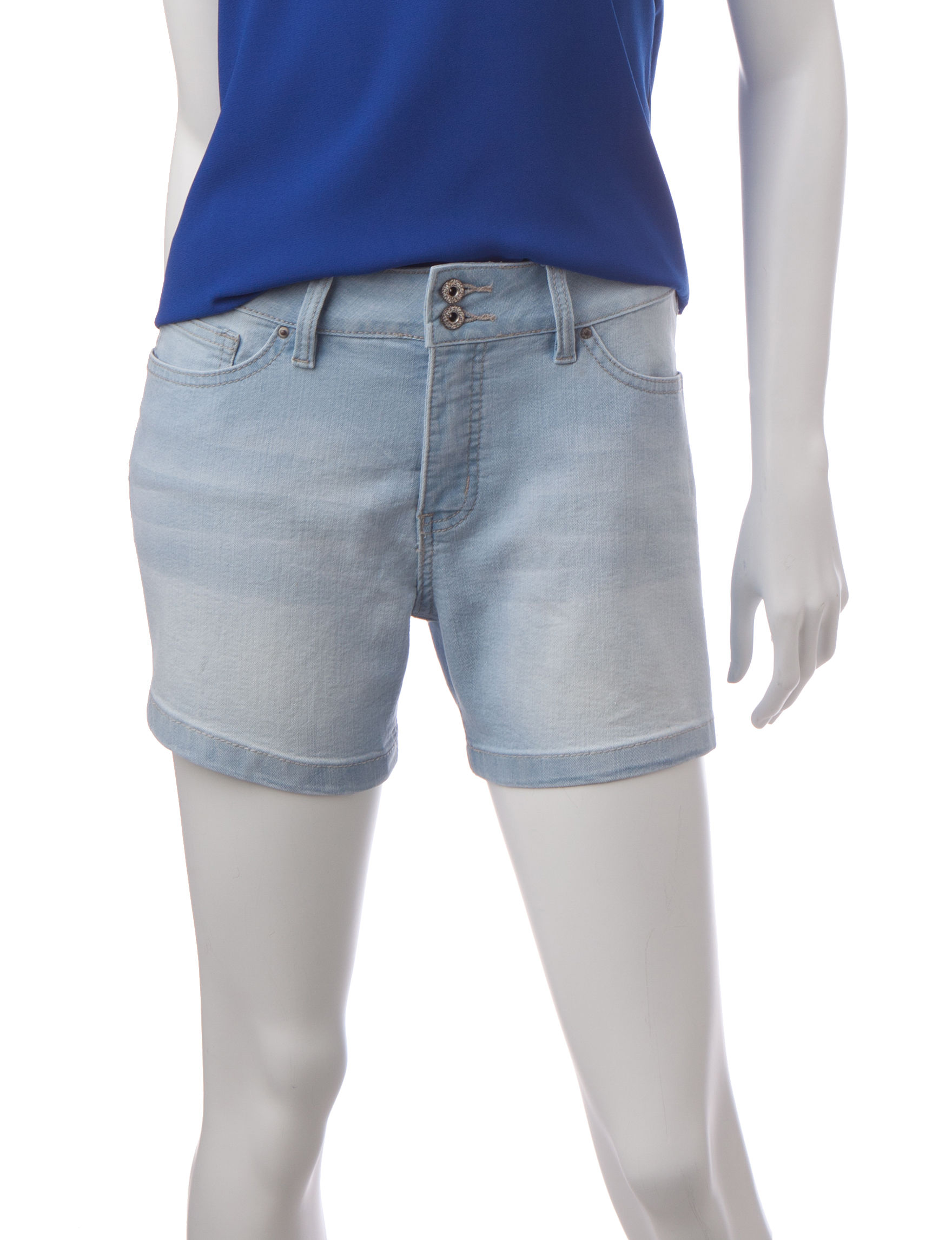 Signature Studio Blue Denim Shorts High Waist
