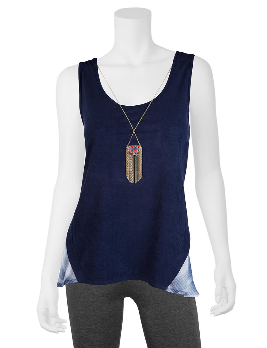 A. Byer Navy Tees & Tanks