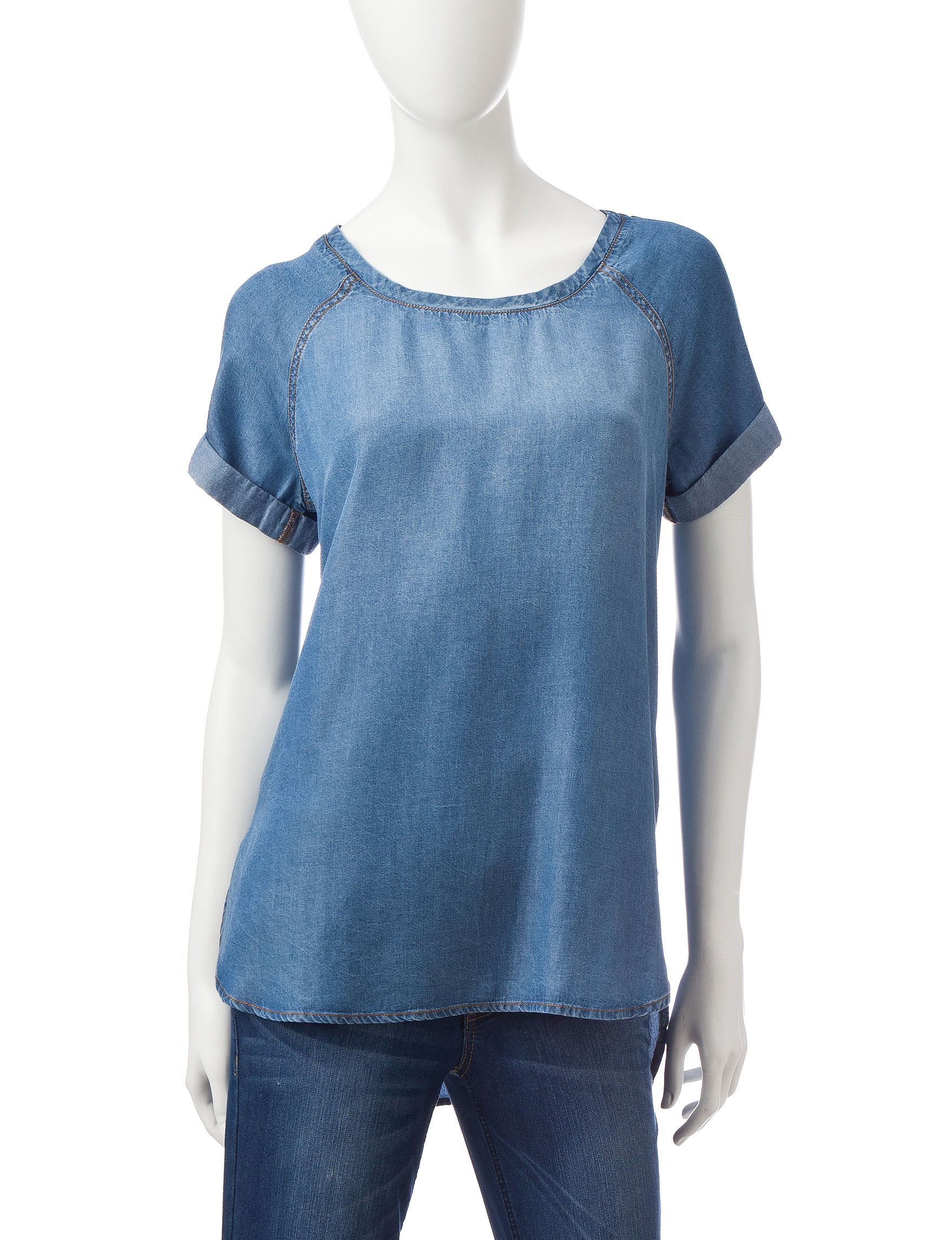 Heart Soul Blue Shirts & Blouses