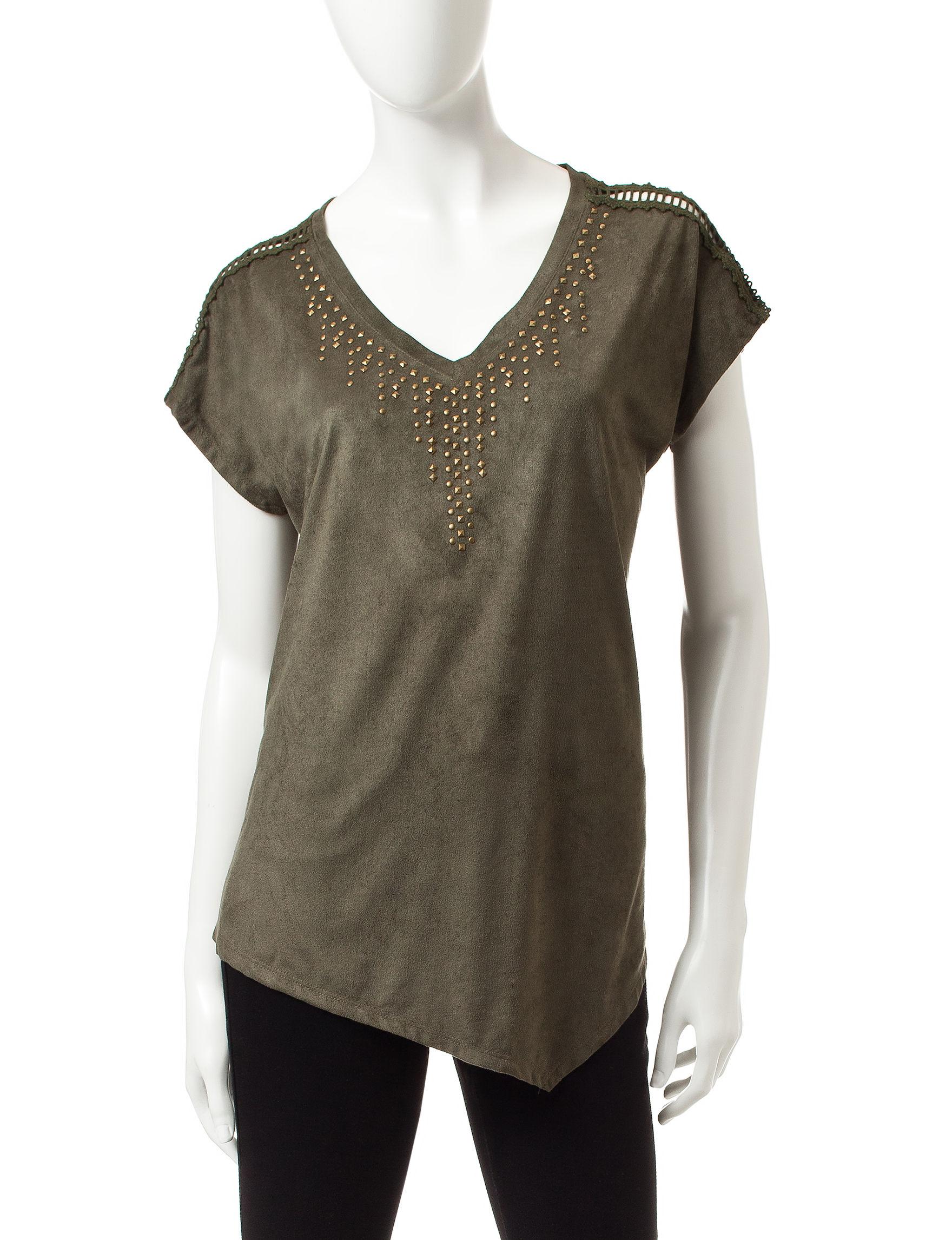 Signature Studio Olive Shirts & Blouses