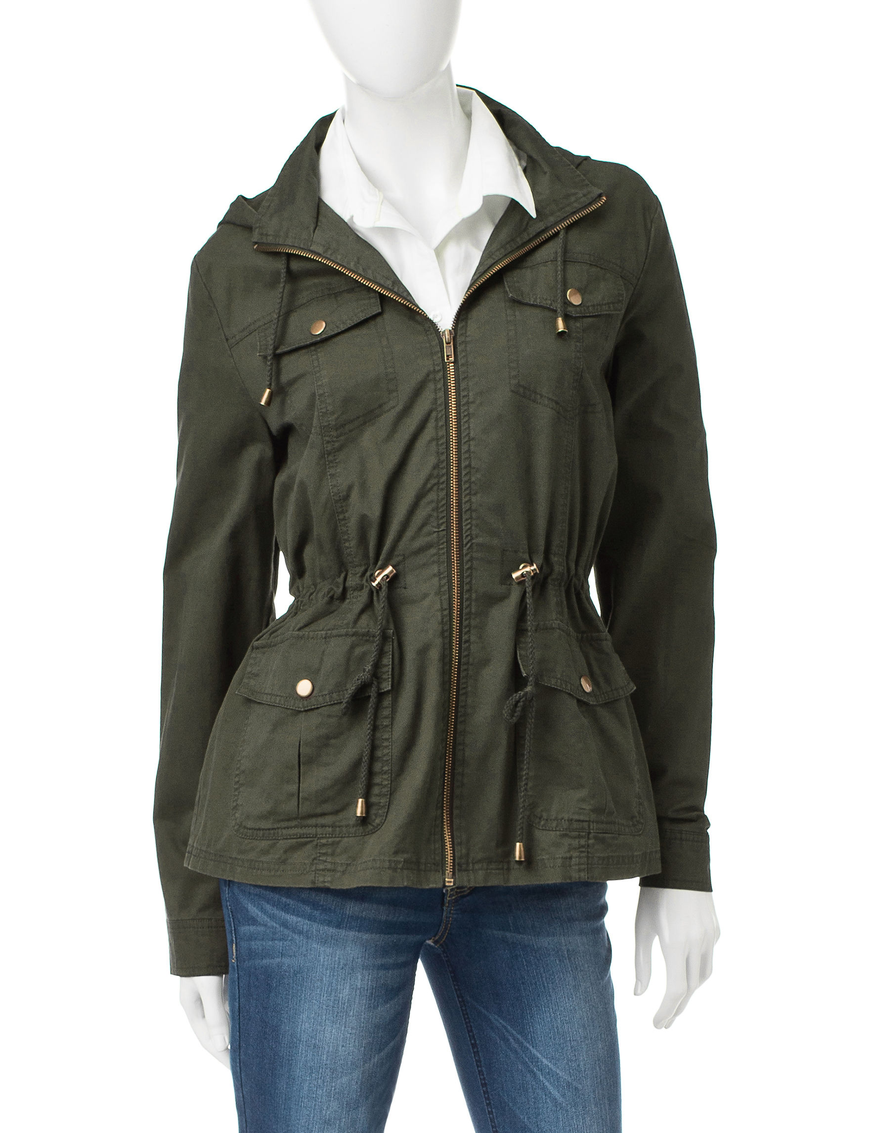 Ashley Olive Fleece & Soft Shell Jackets