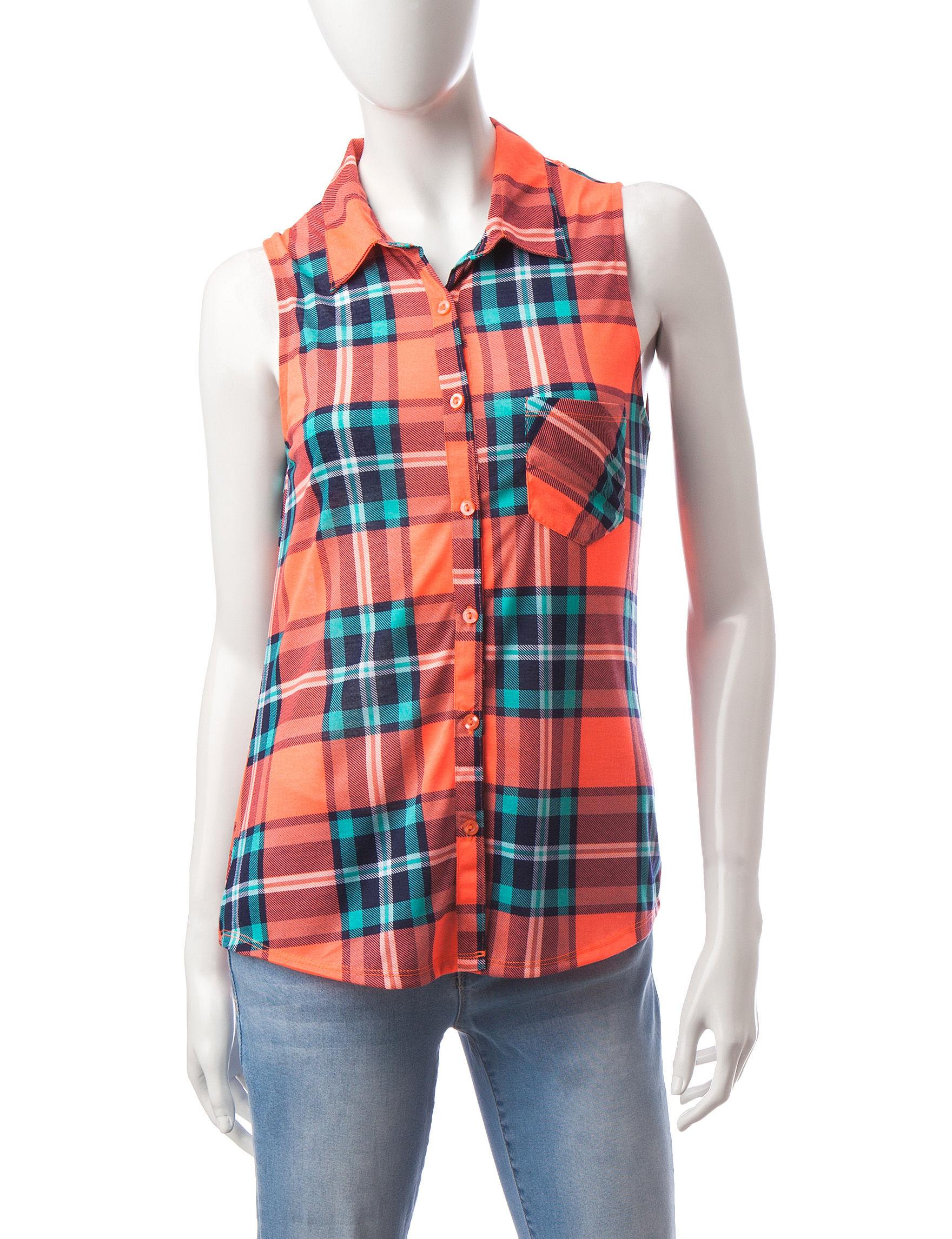 Ultra Flirt Orange Shirts & Blouses