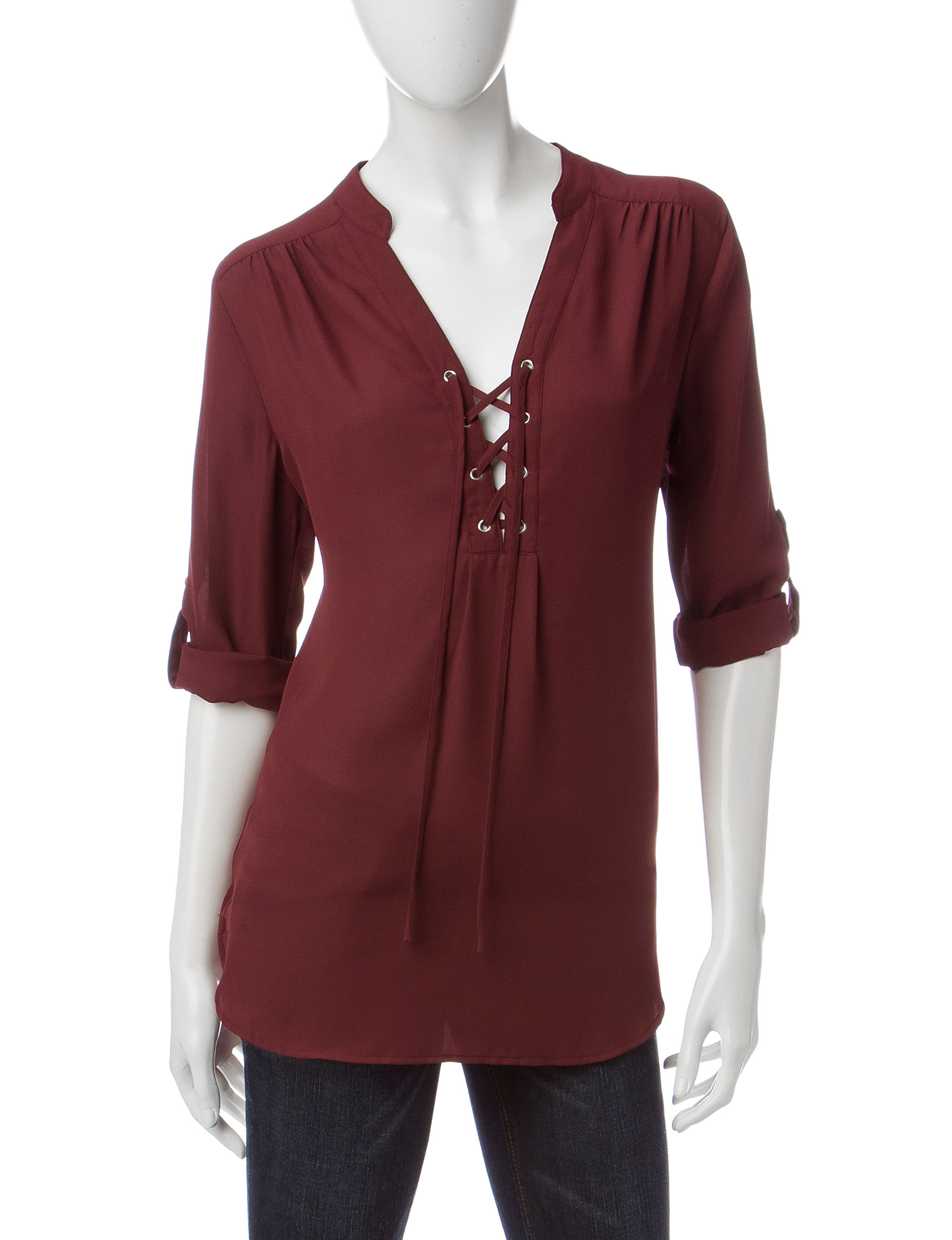 Wishful Park Burgundy Pull-overs Shirts & Blouses