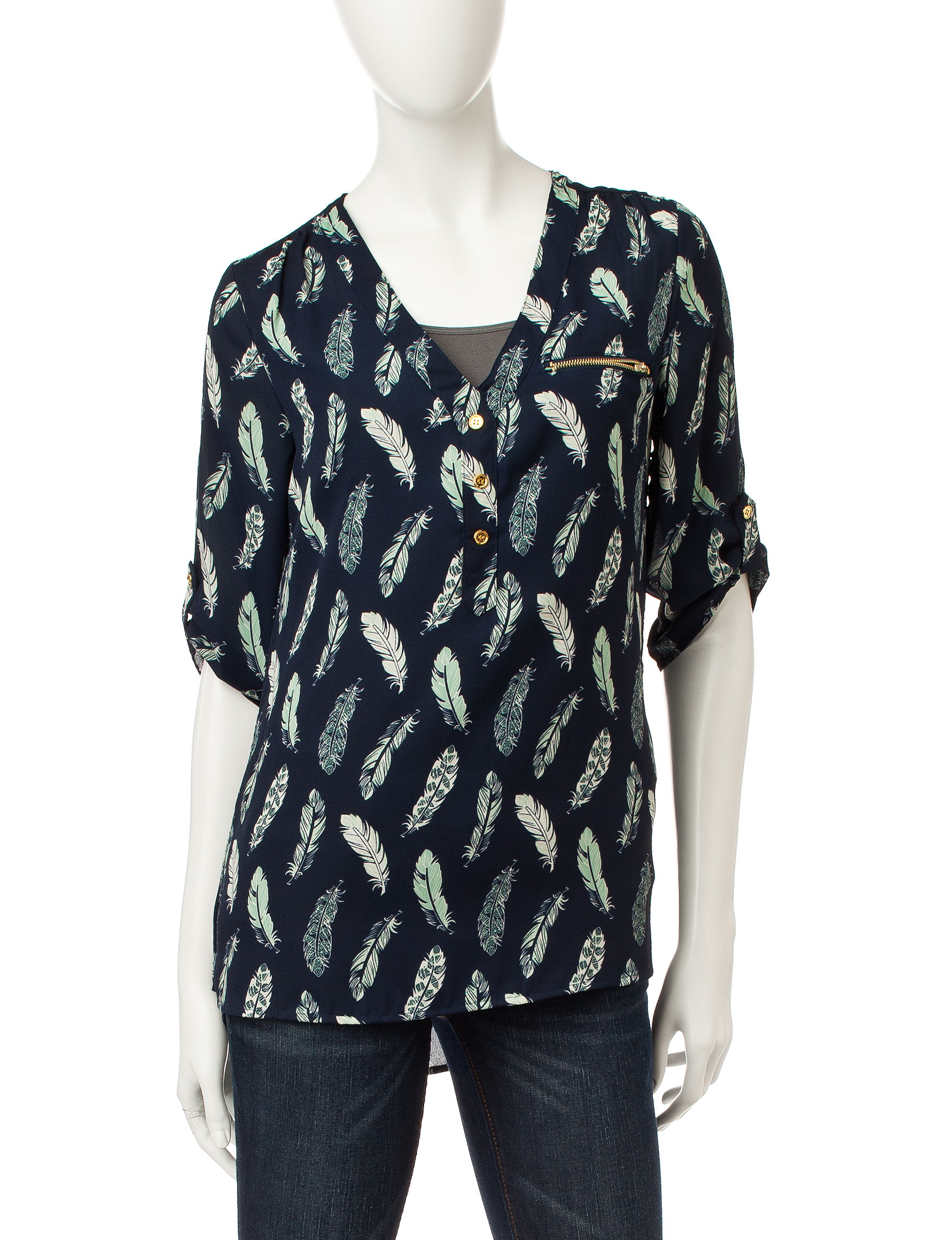 Wishful Park Navy Pull-overs Shirts & Blouses