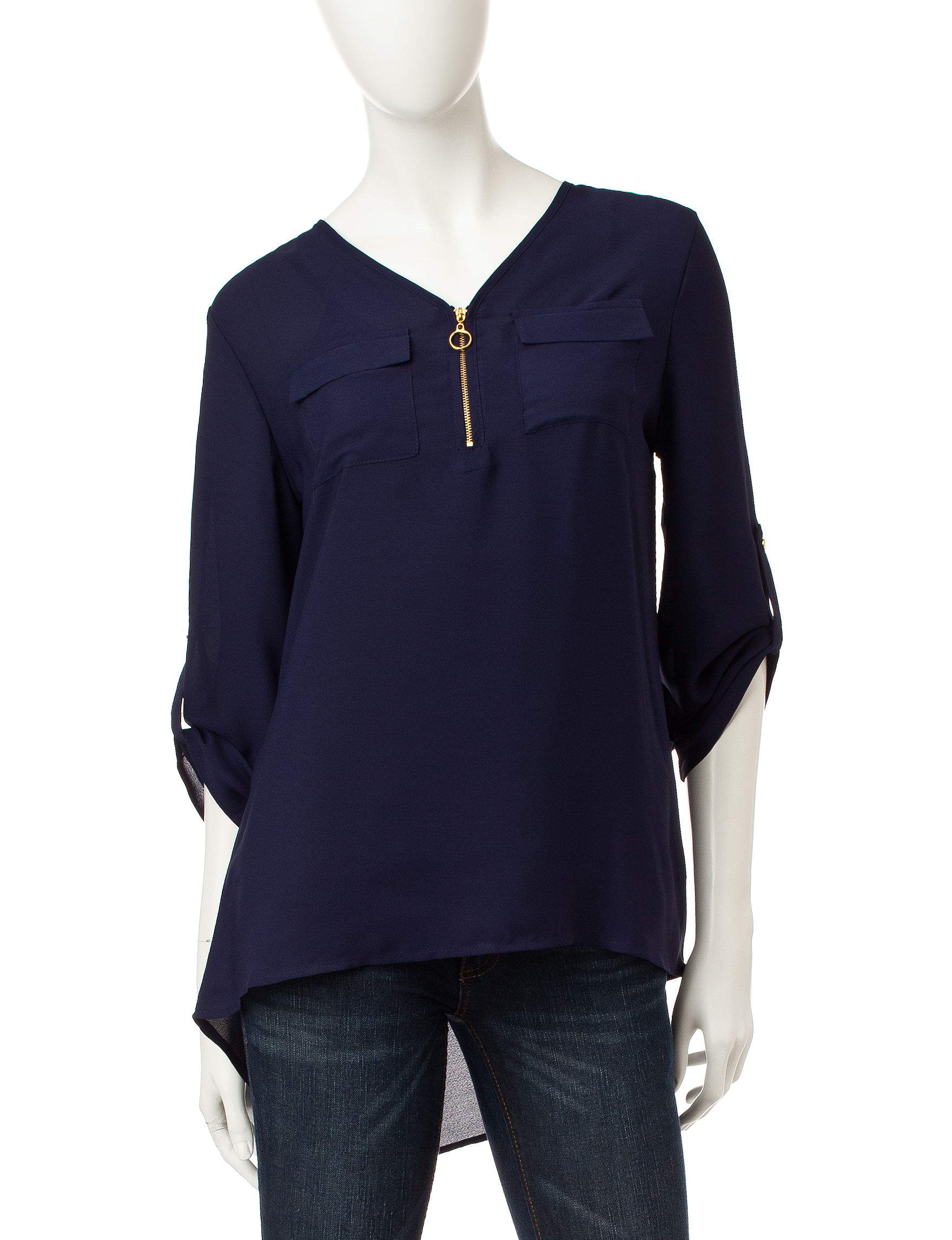 Wishful Park Dark Blue Pull-overs Shirts & Blouses