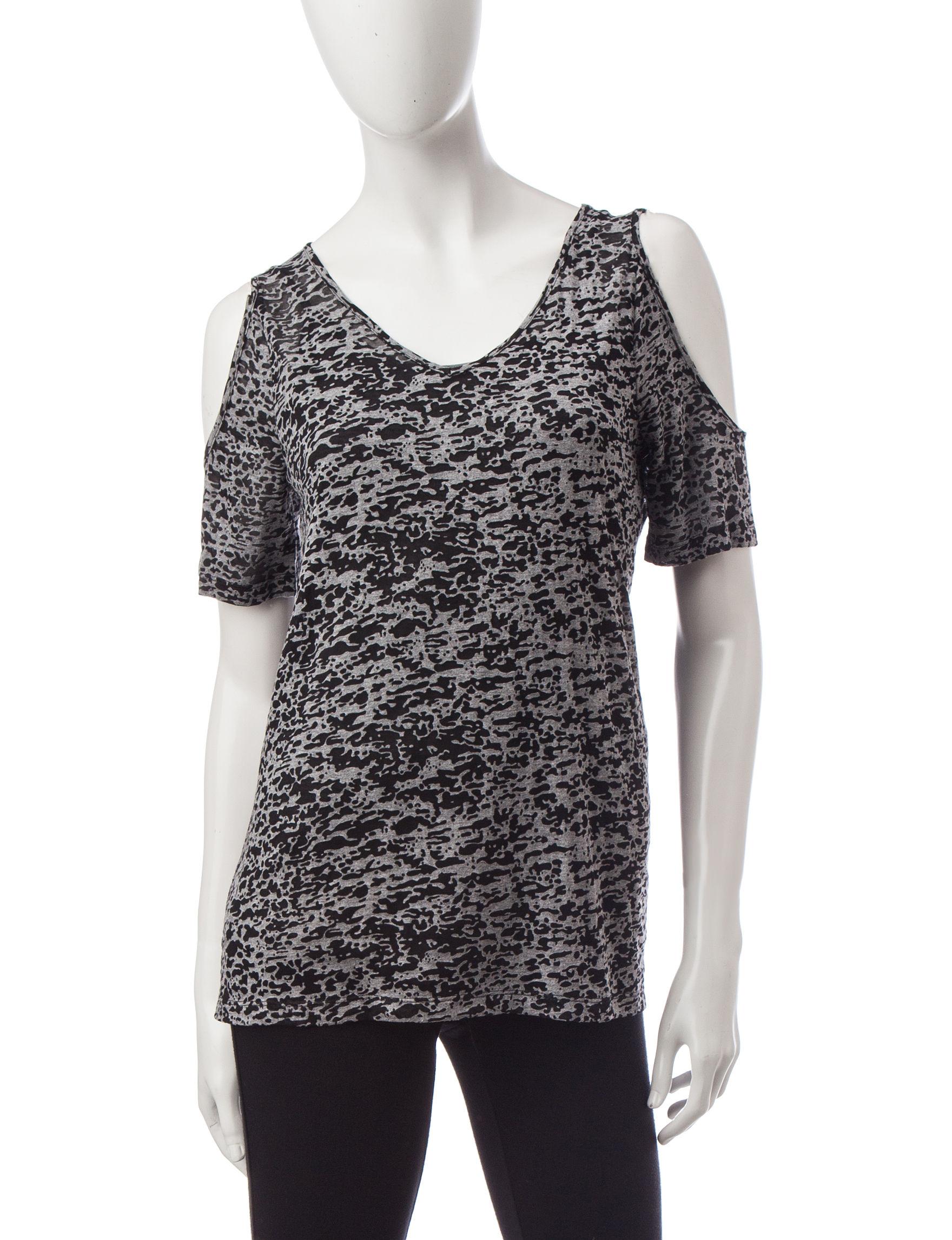 Signature Studio Grey / Black Shirts & Blouses