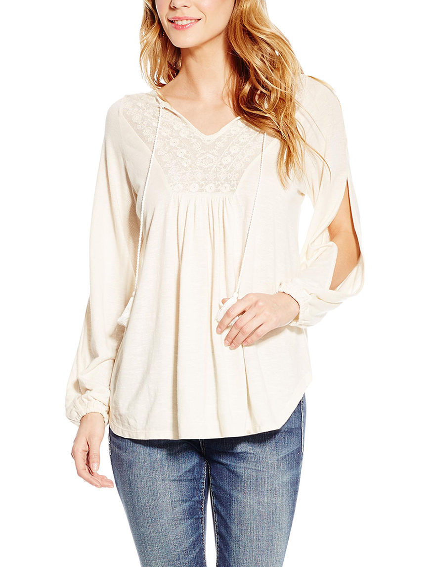 Jessica Simpson Off White Shirts & Blouses