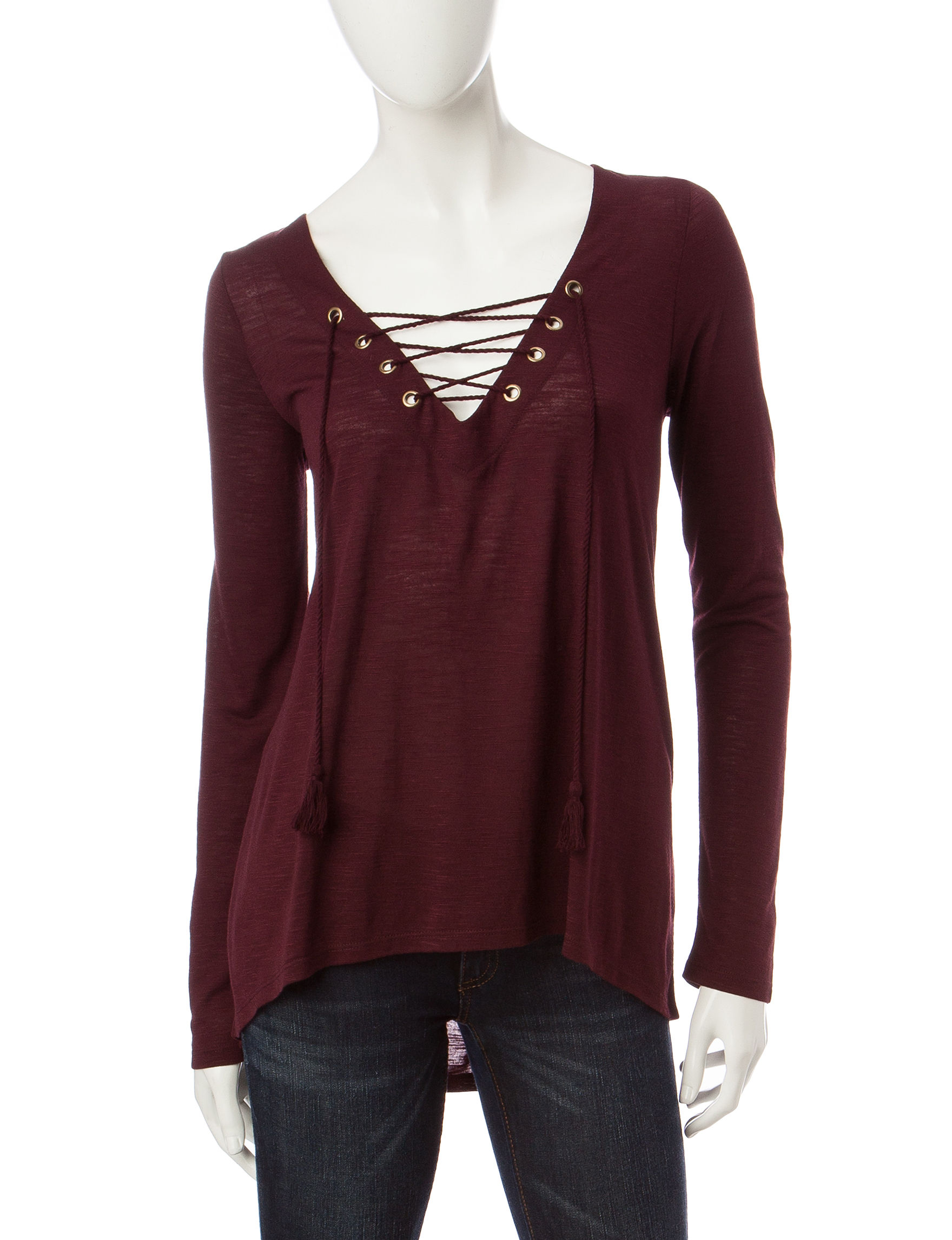 Taylor & Sage Plum Purple Shirts & Blouses