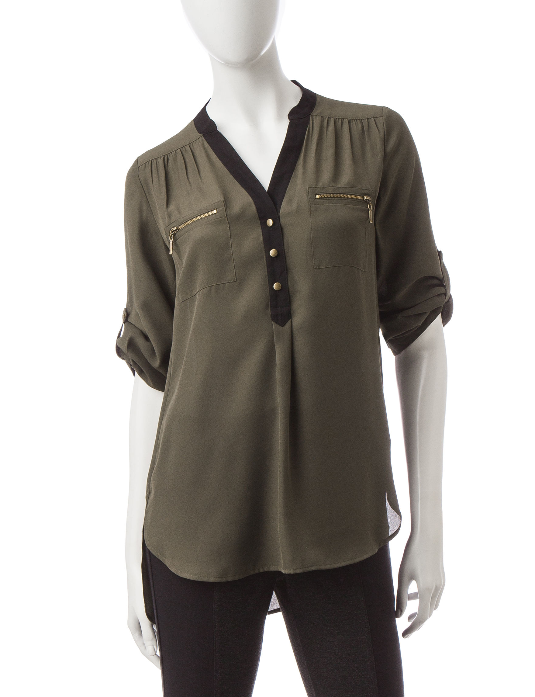 My Michelle Olive Shirts & Blouses