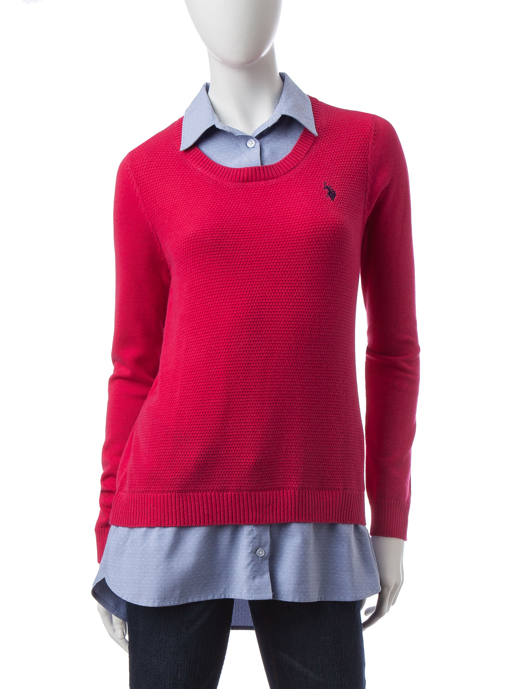 U.S. Polo Assn. Pink Pull-overs