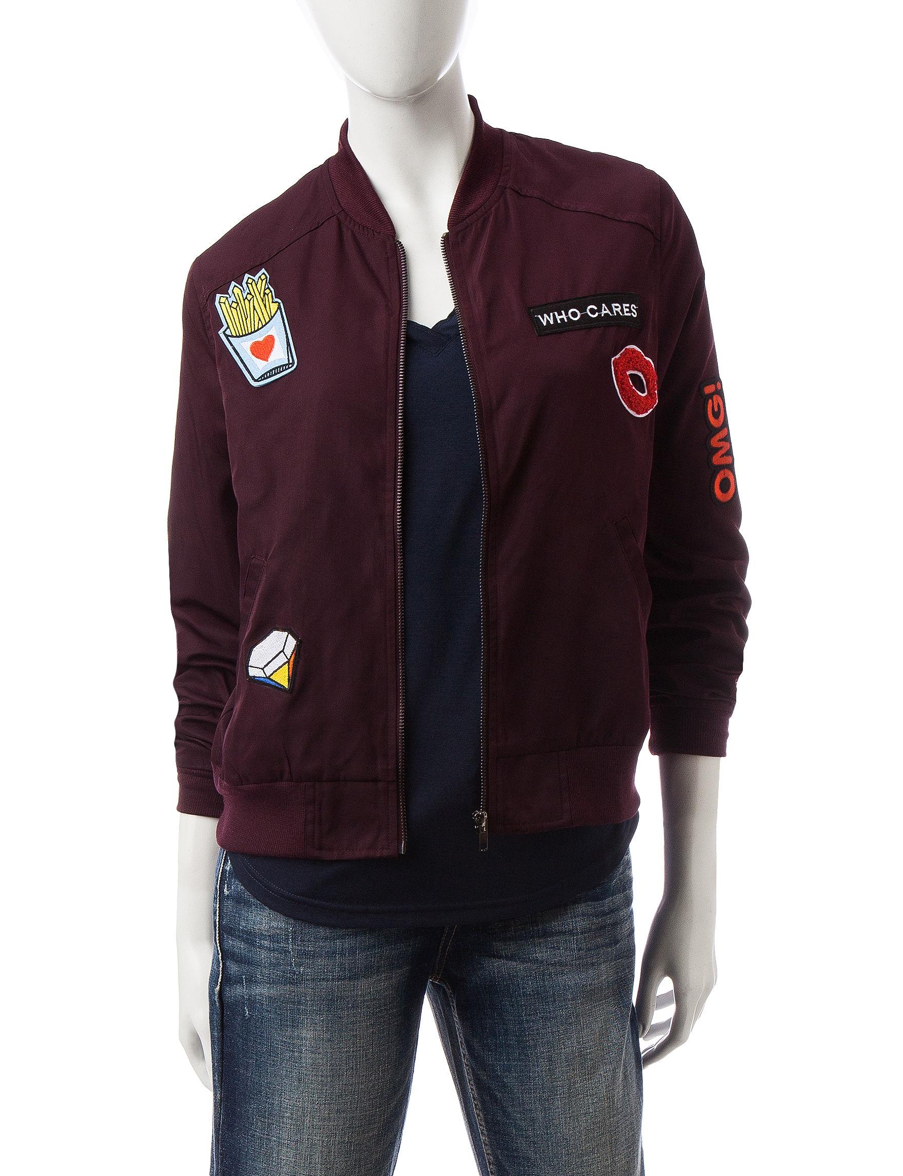 Justify Wine Lightweight Jackets & Blazers