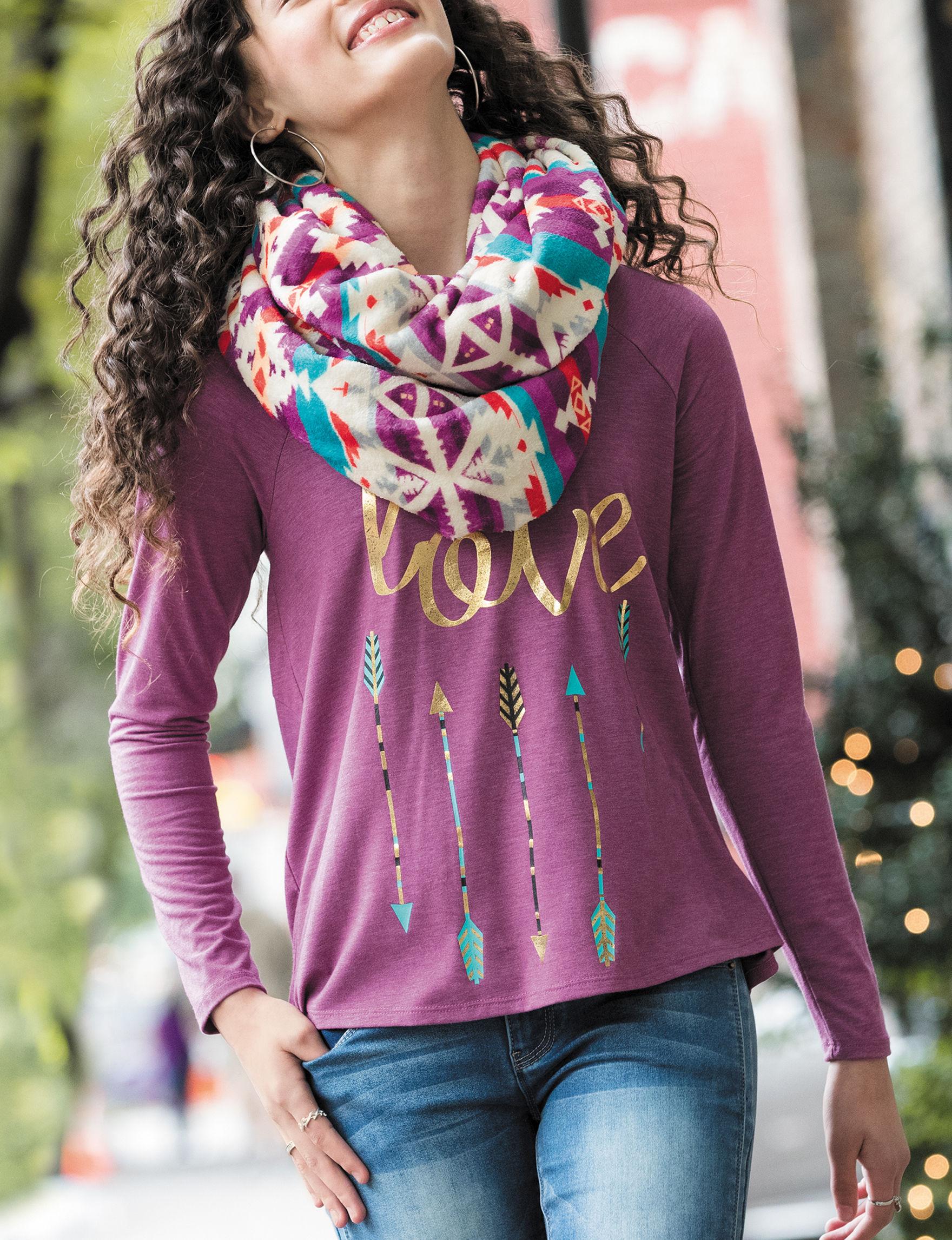 Self Esteem Purple Shirts & Blouses