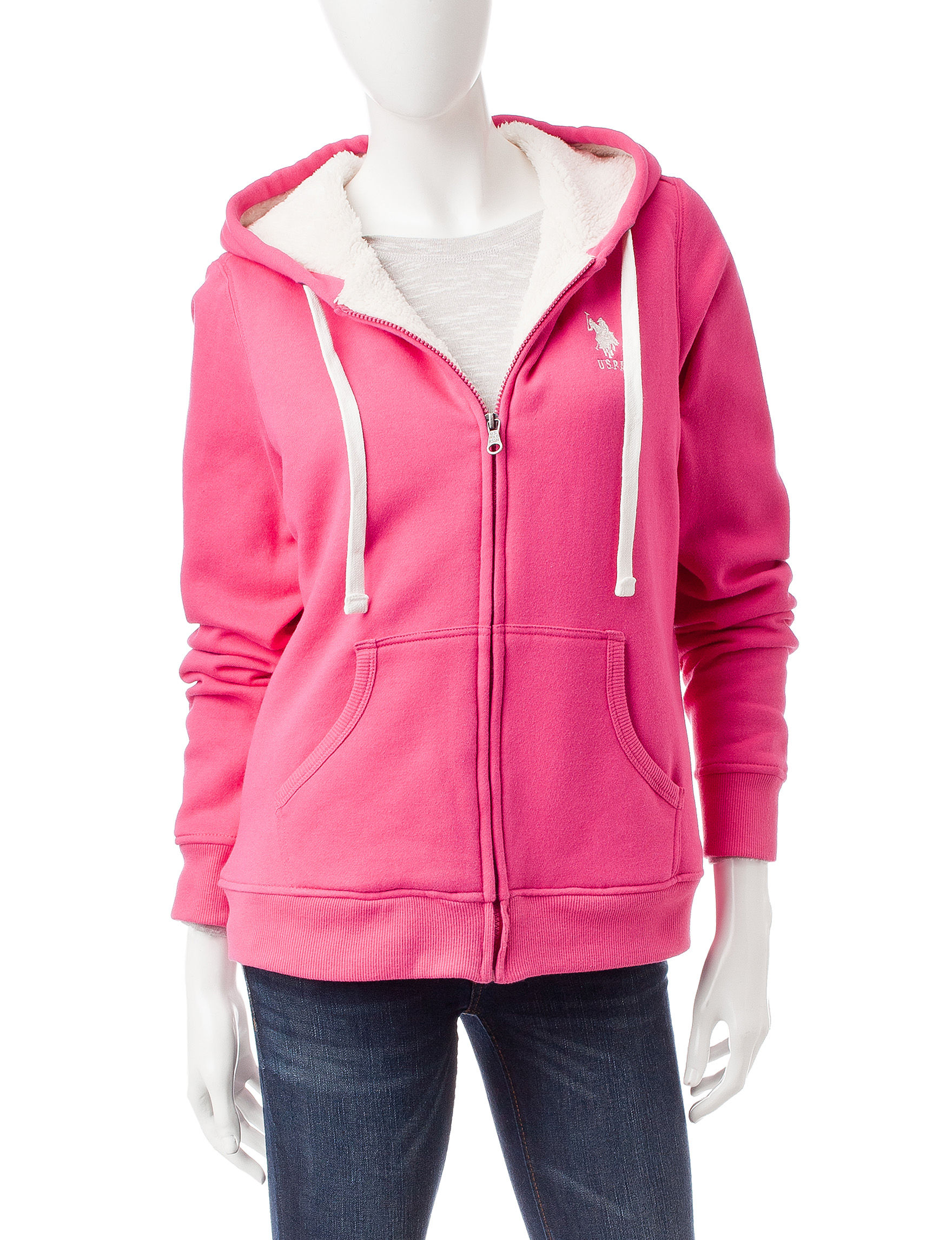 U.S. Polo Assn. Pink Fleece & Soft Shell Jackets