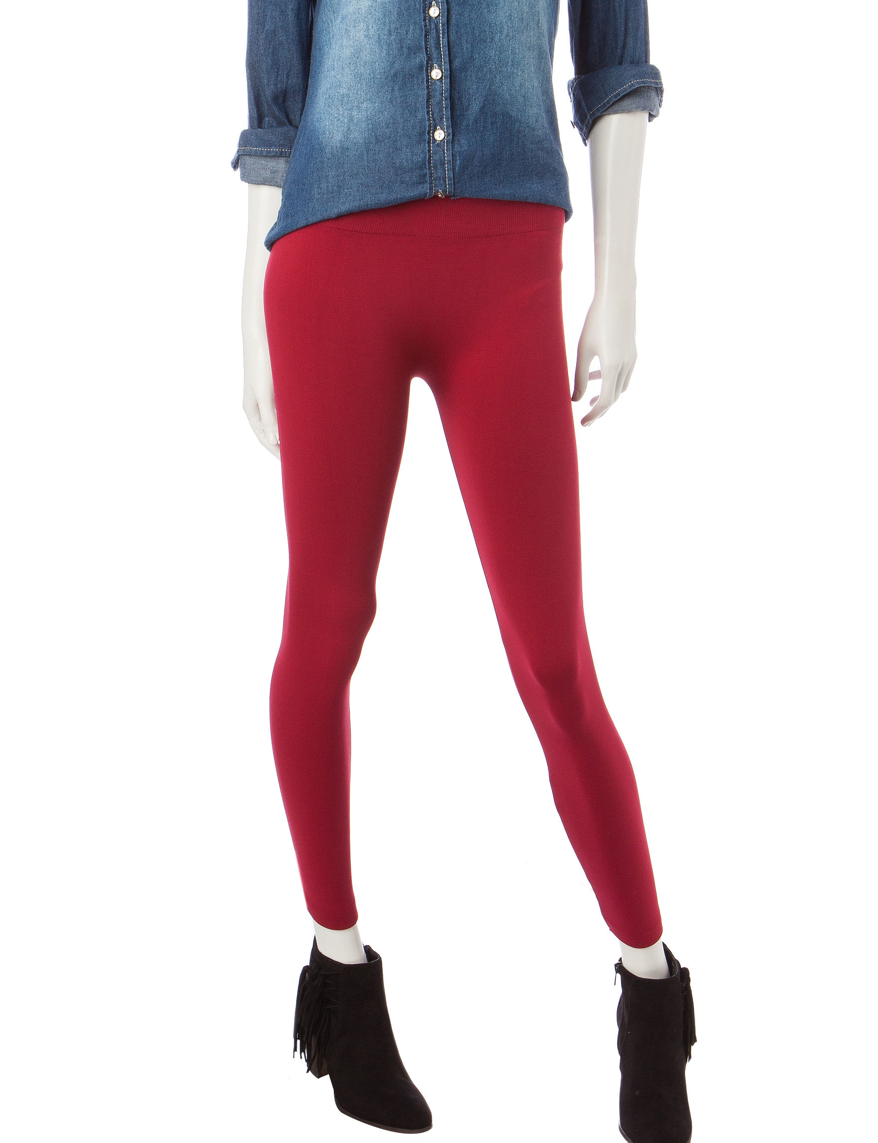 Extra Touch Red Leggings