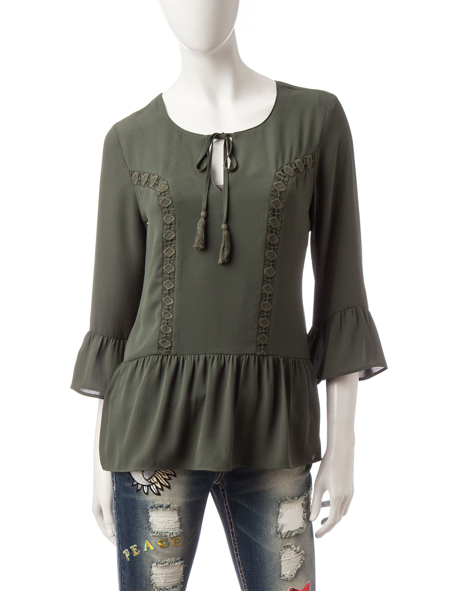 Signature Studio Dark Green Shirts & Blouses