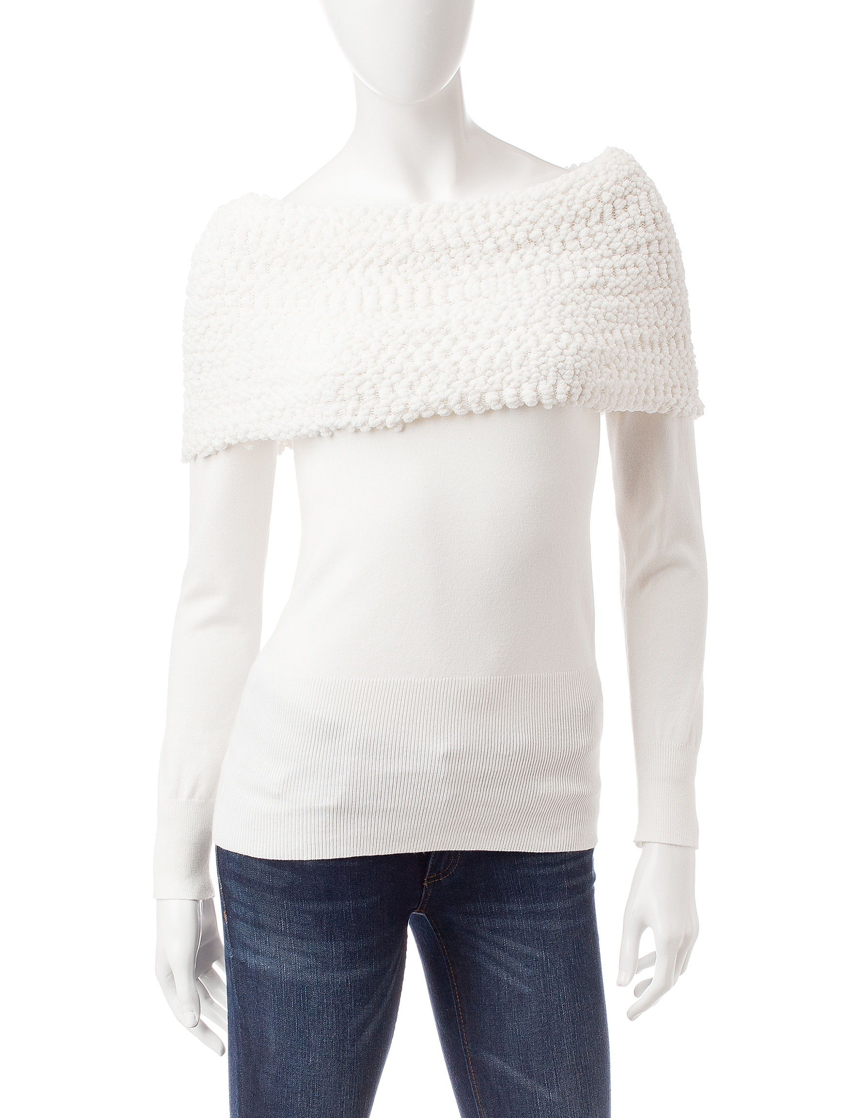 XOXO White Pull-overs Shirts & Blouses