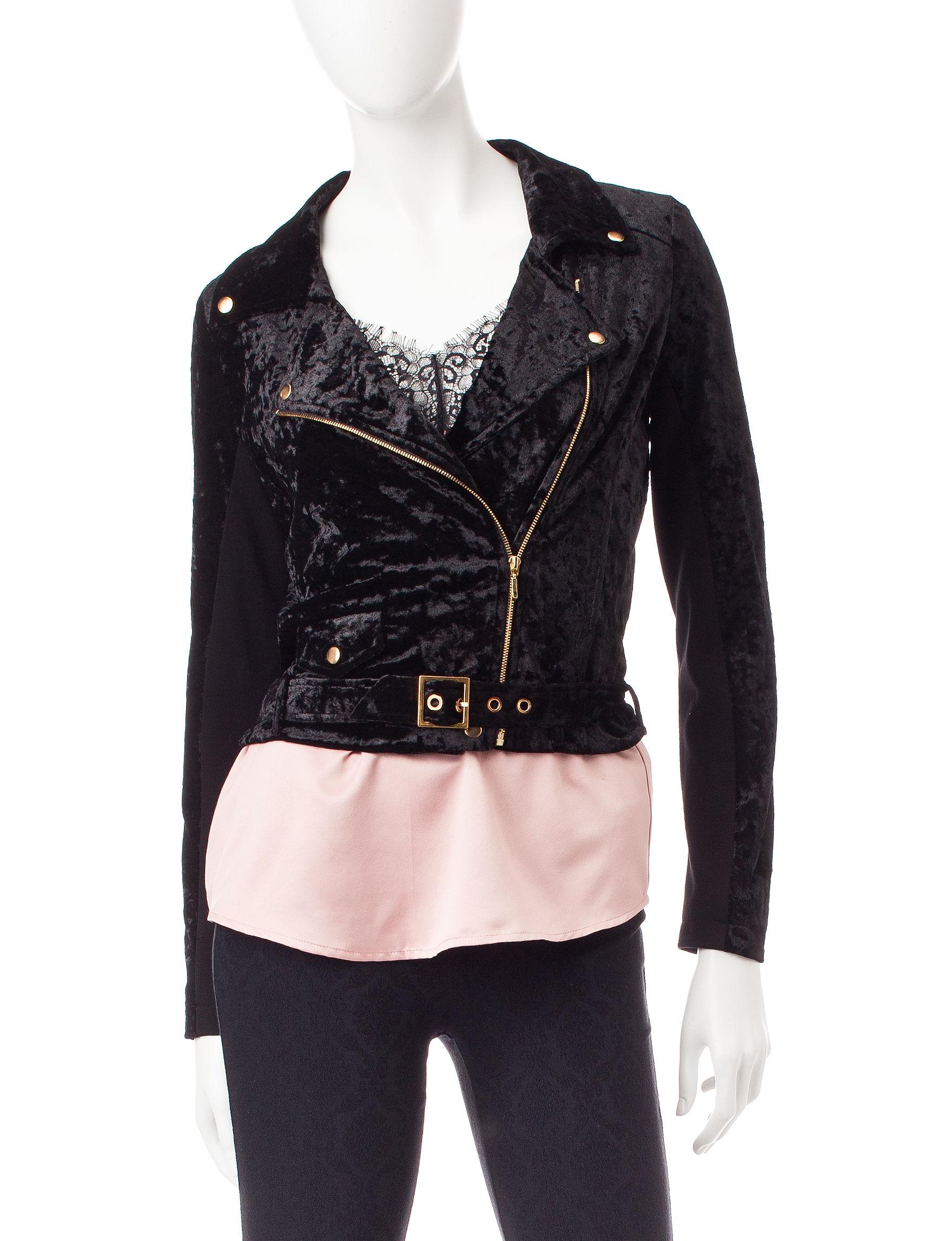 My Michelle Black Lightweight Jackets & Blazers