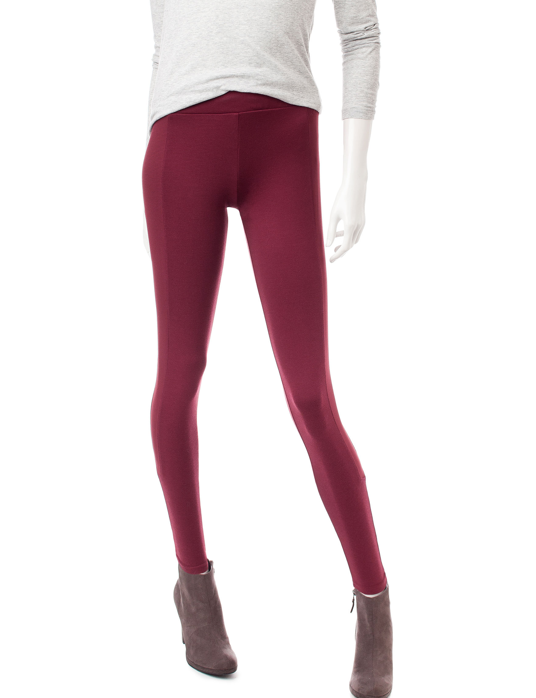 No Comment Dark Red Leggings